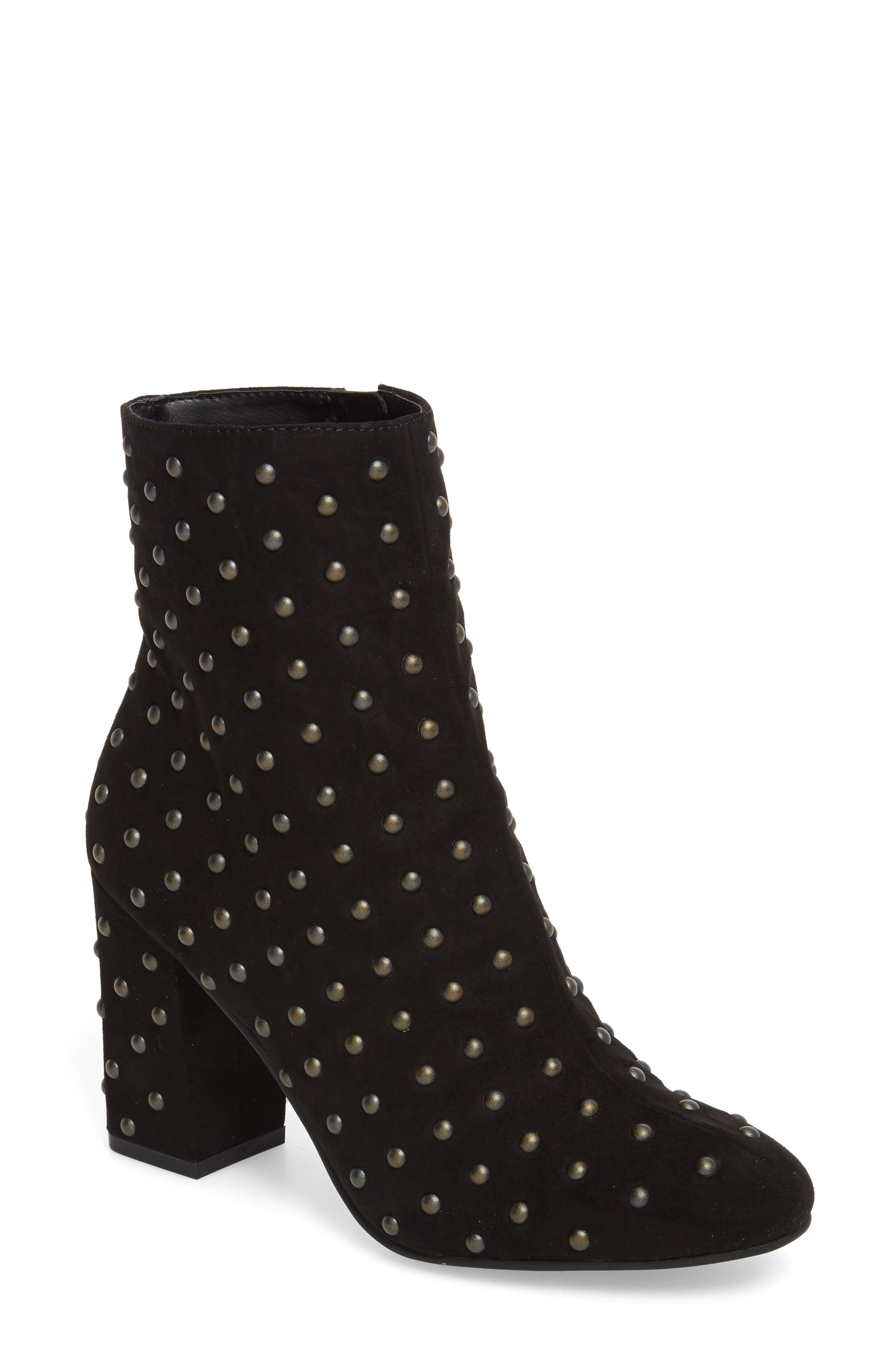 Westand Bootie,                         Main,                         color, Black Faux Suede