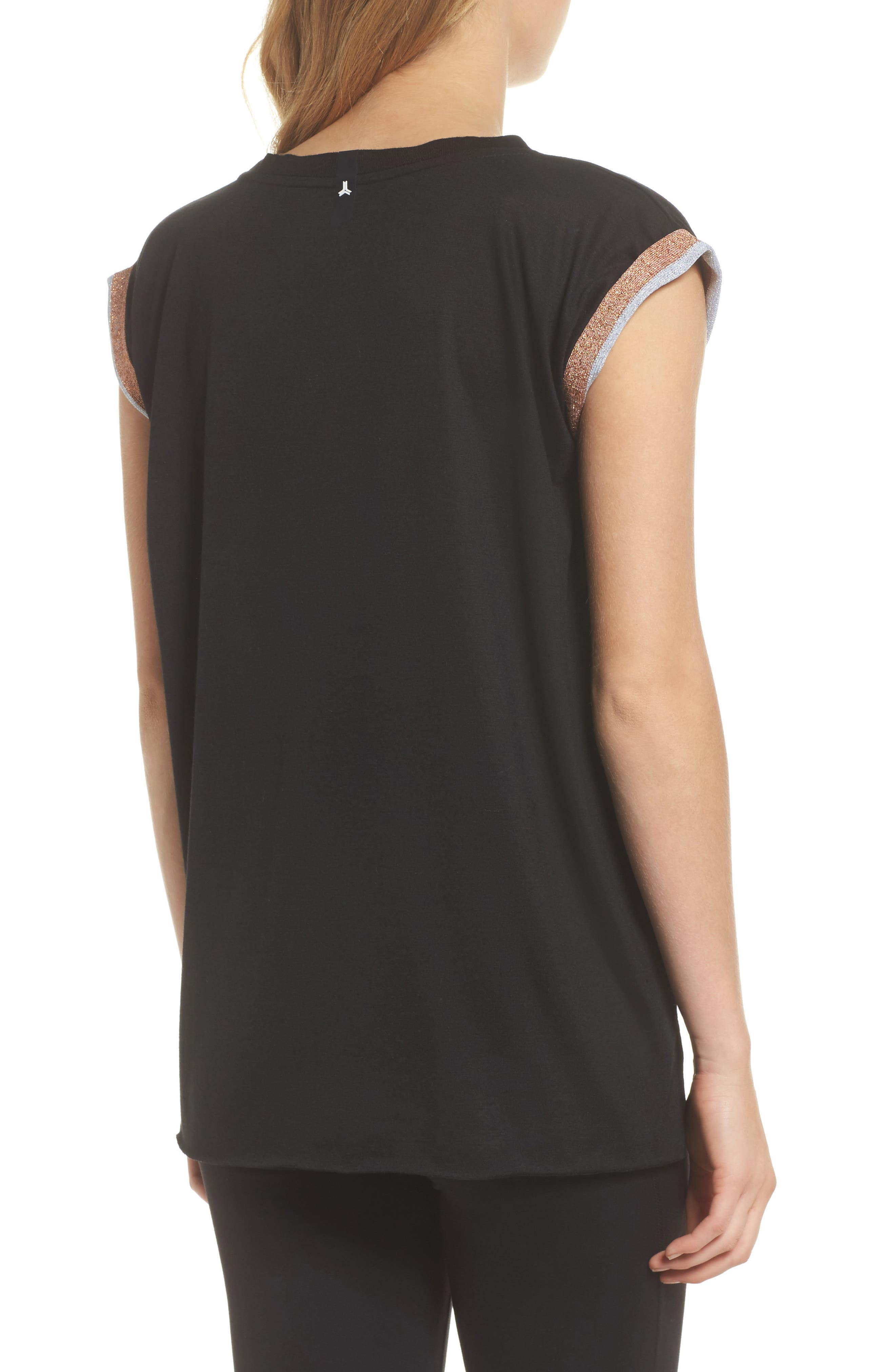 Collegiate Muscle Tee,                             Alternate thumbnail 2, color,                             Nero Rose Silver