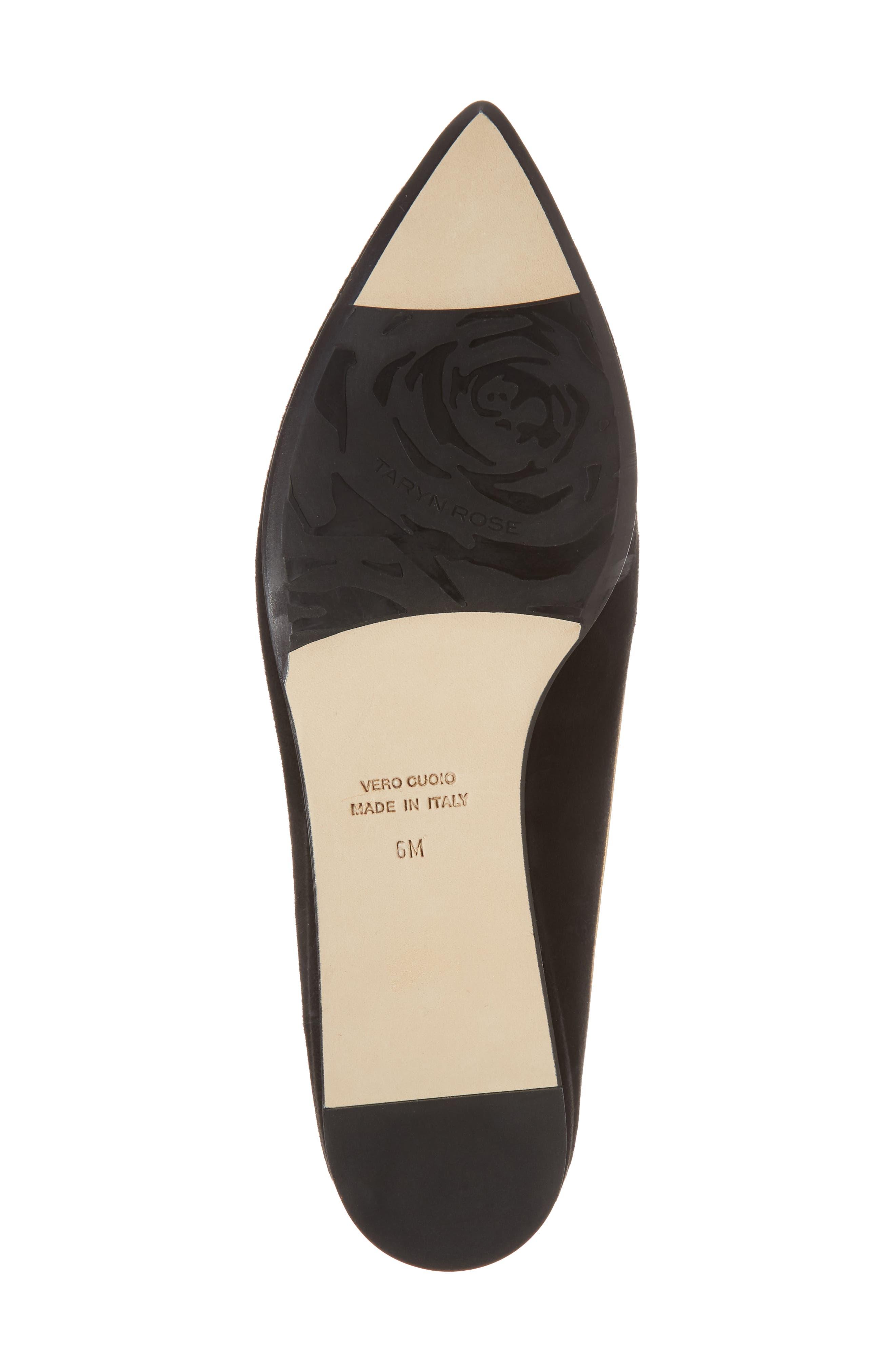 Taryn Rose Renatta Mule,                             Alternate thumbnail 6, color,                             Black/ Black Leather