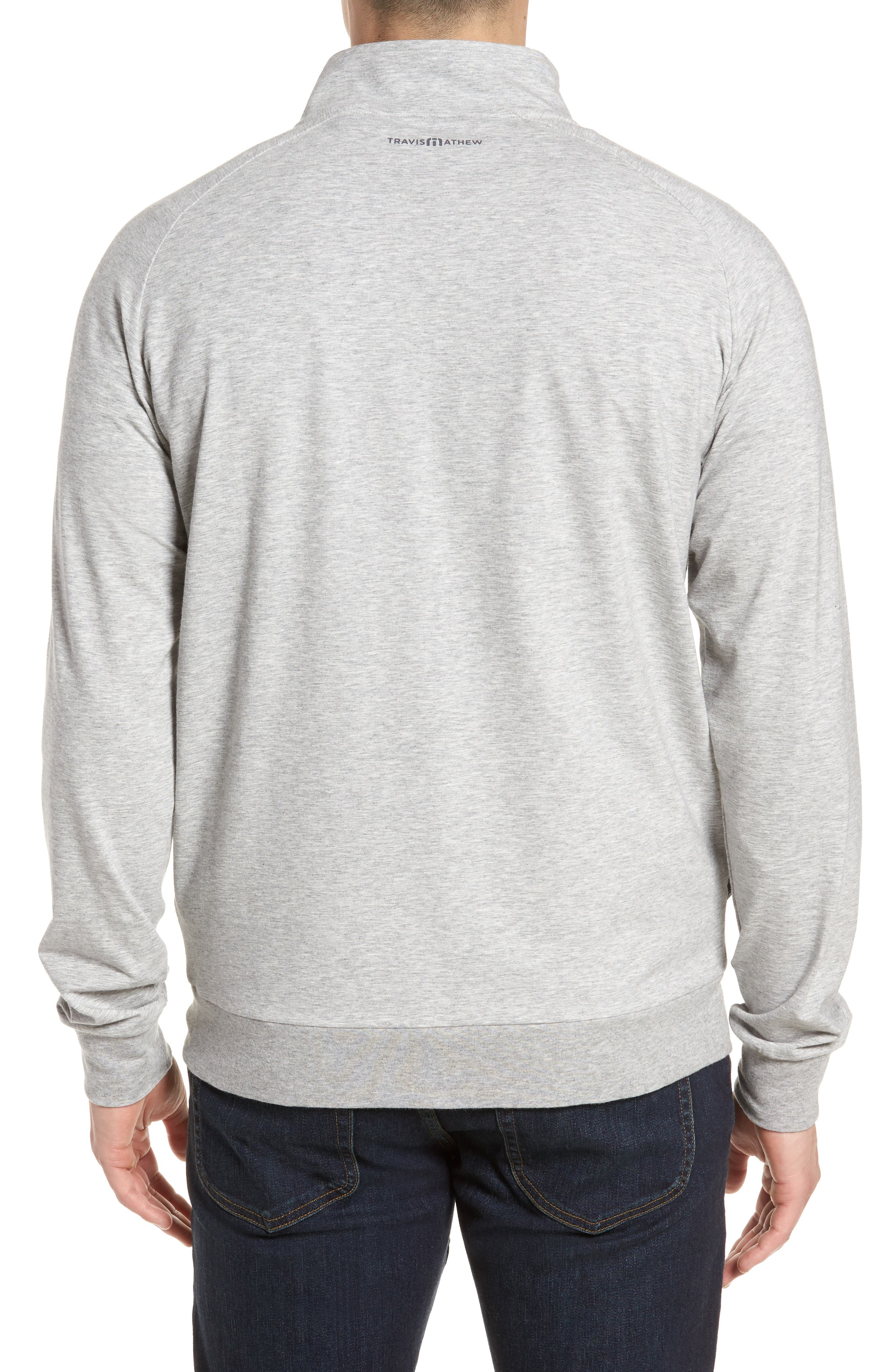 'Strange Love' Trim Fit Wrinkle Resistant Quarter Zip Jacket,                             Alternate thumbnail 2, color,                             Heather Alloy
