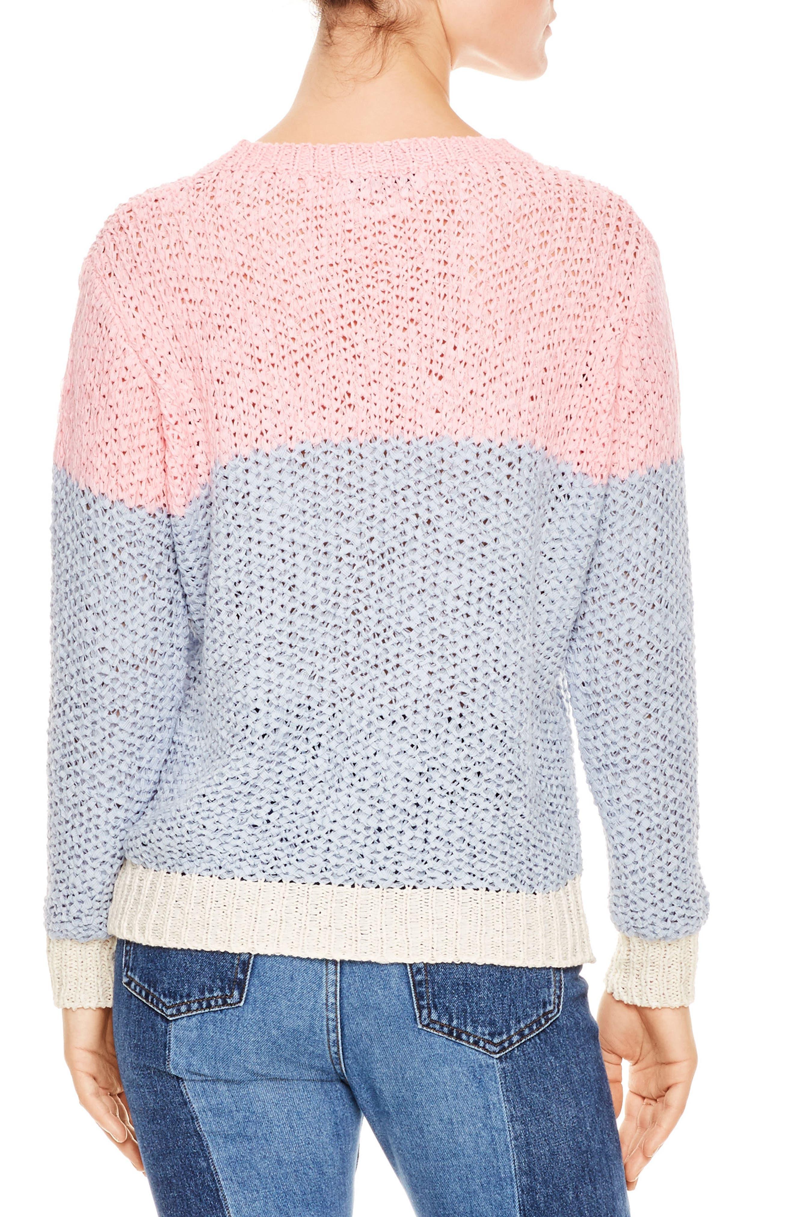 Malabar Colorblock Knit Sweater,                             Alternate thumbnail 2, color,                             Malabar