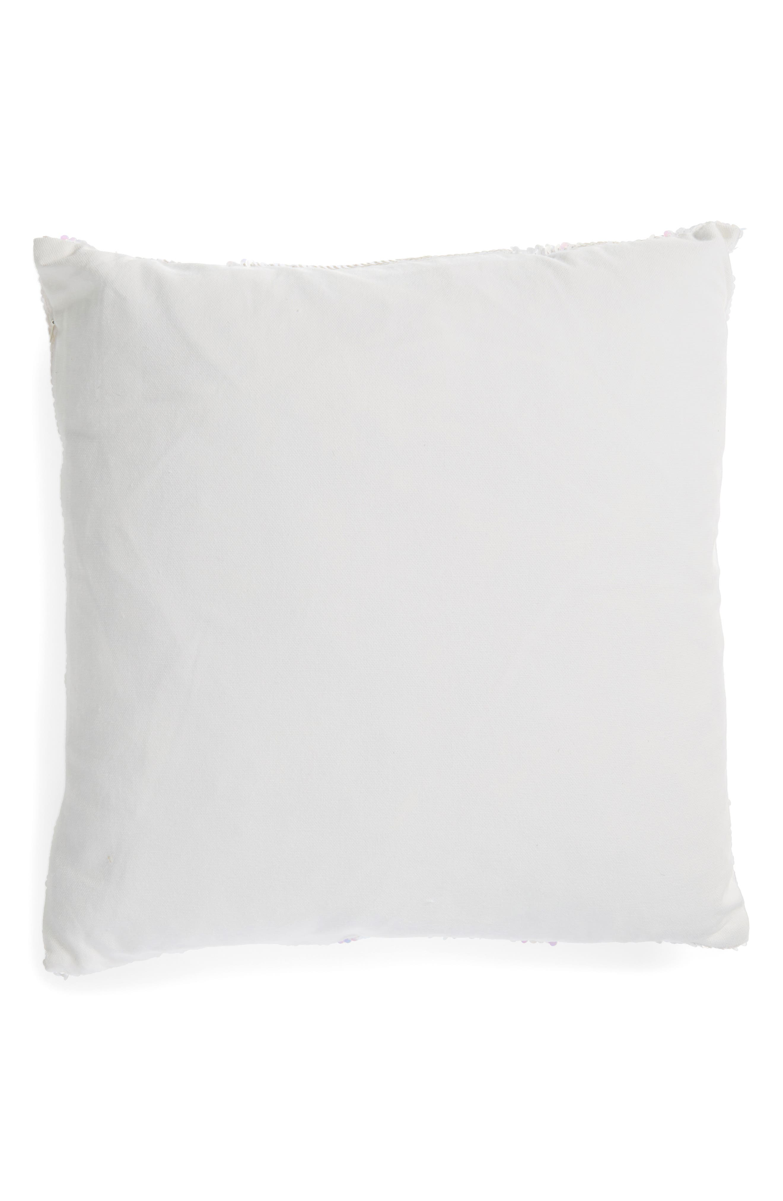 Iridescent Sequin Accent Pillow,                             Alternate thumbnail 2, color,                             Ivory