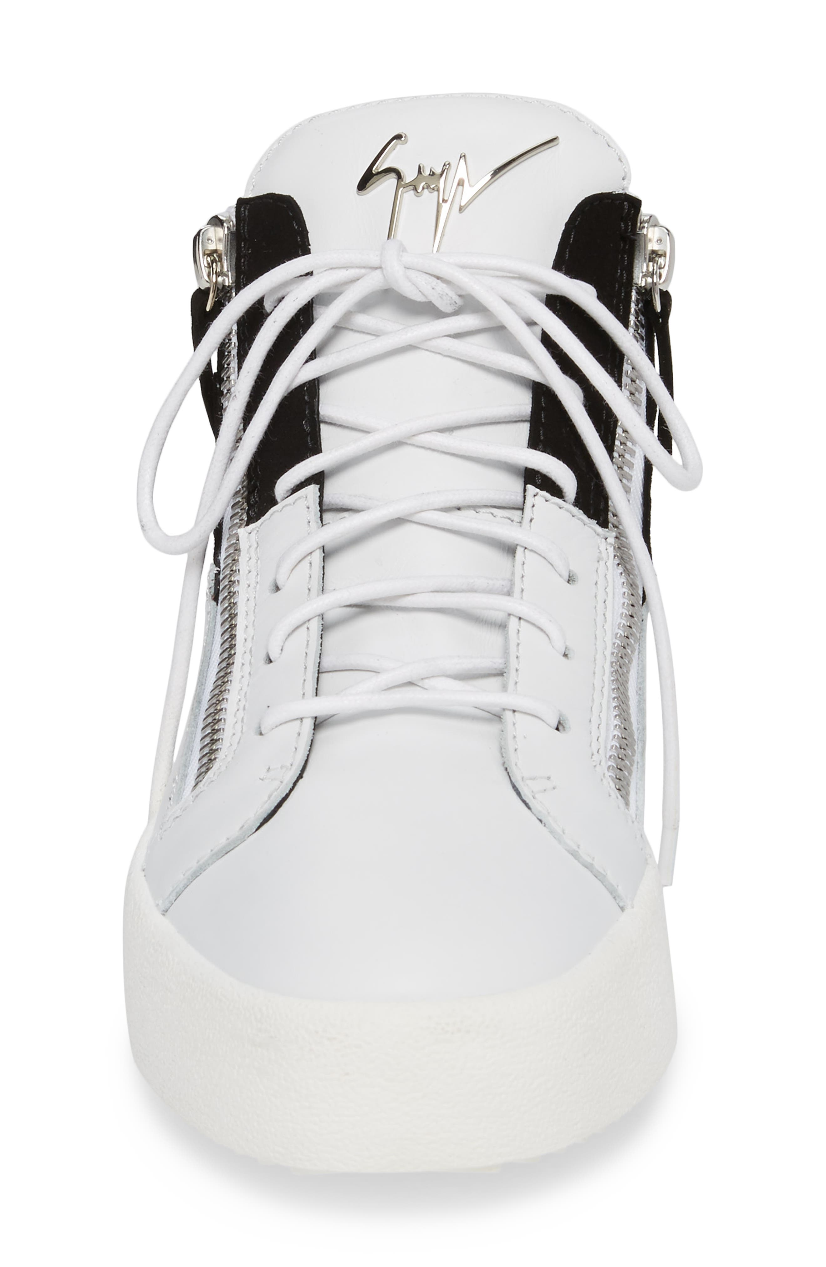Exposed Sneaker,                             Alternate thumbnail 4, color,                             Black/White