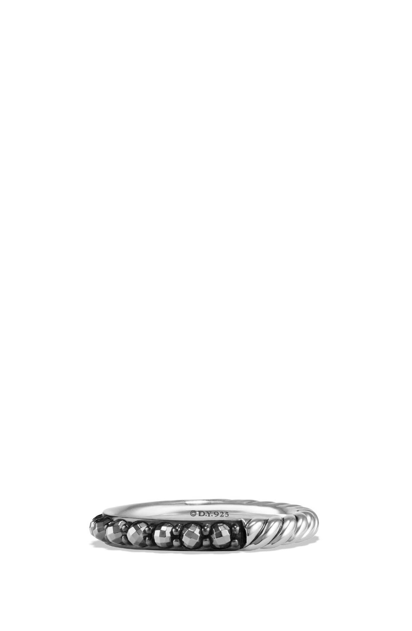 Osetra Band Ring,                         Main,                         color, Hematine
