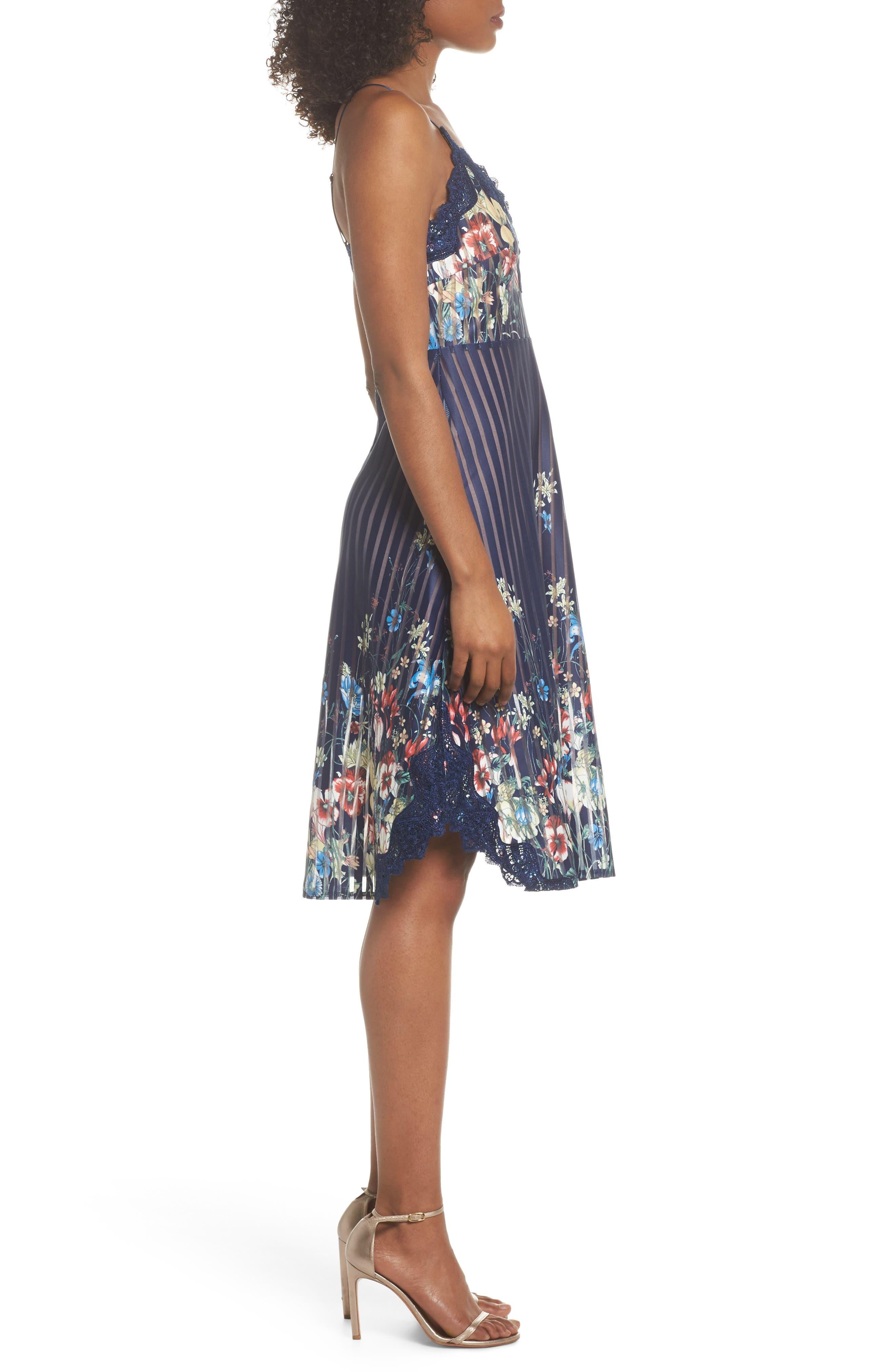 Meadow Dress,                             Alternate thumbnail 3, color,                             Navy Meadow Multi