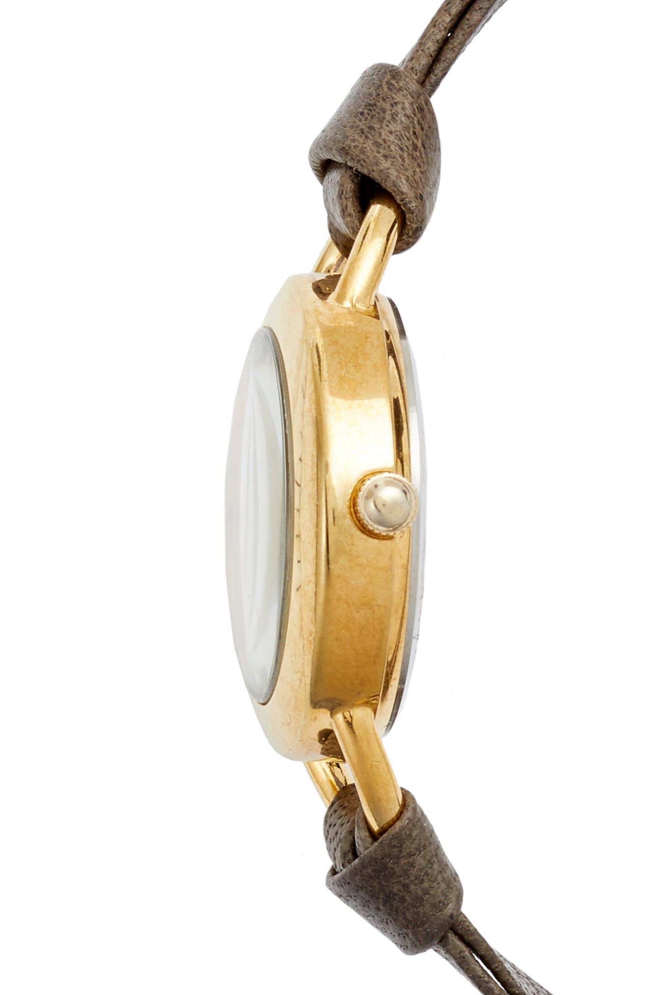 Slate Saturn Leather Strap Wrap Watch, 25mm,                             Alternate thumbnail 2, color,                             Grey/ White/ Gold