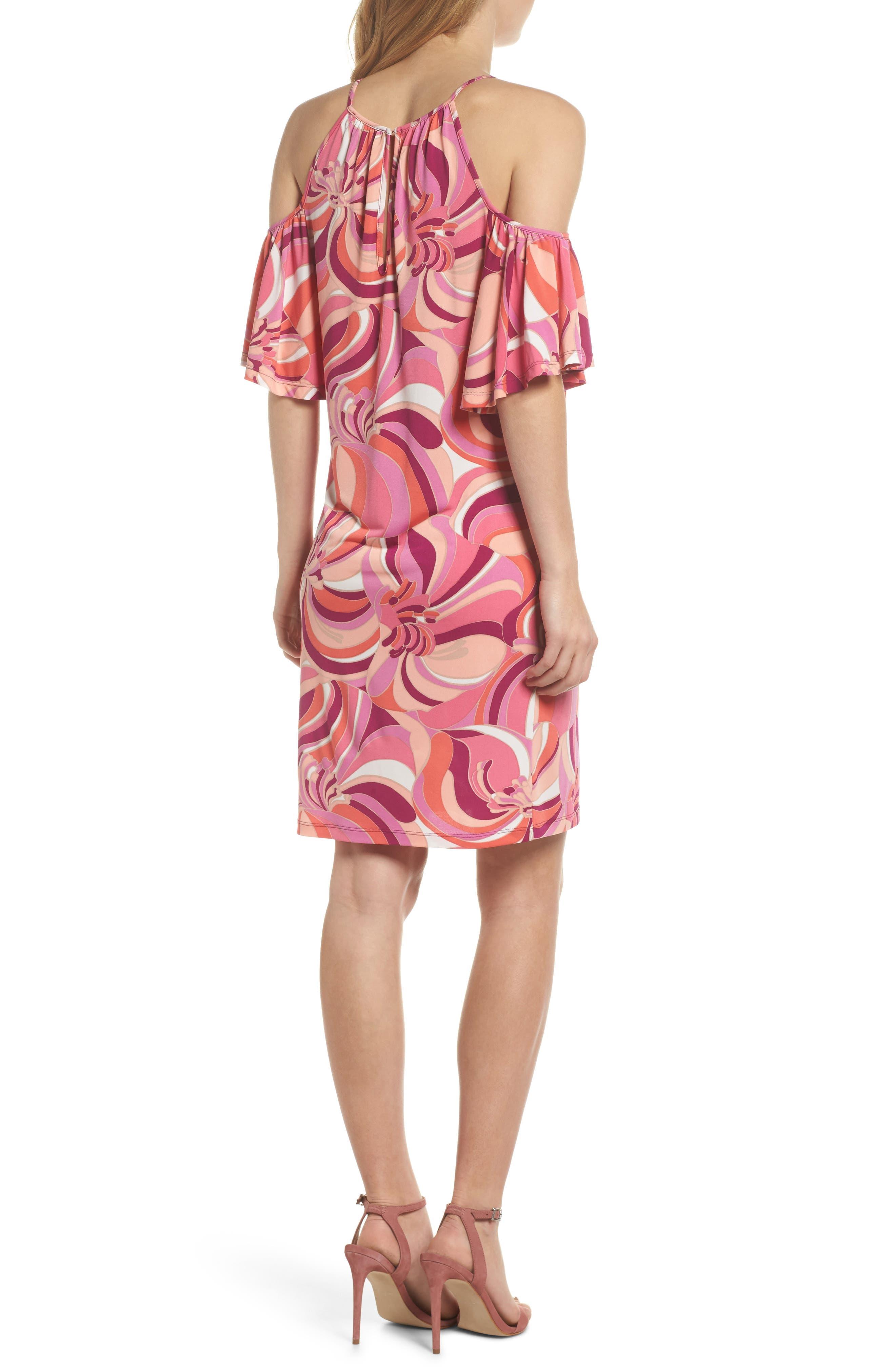 Viola Cold Shoulder Dress,                             Alternate thumbnail 2, color,                             Purple Dahlia