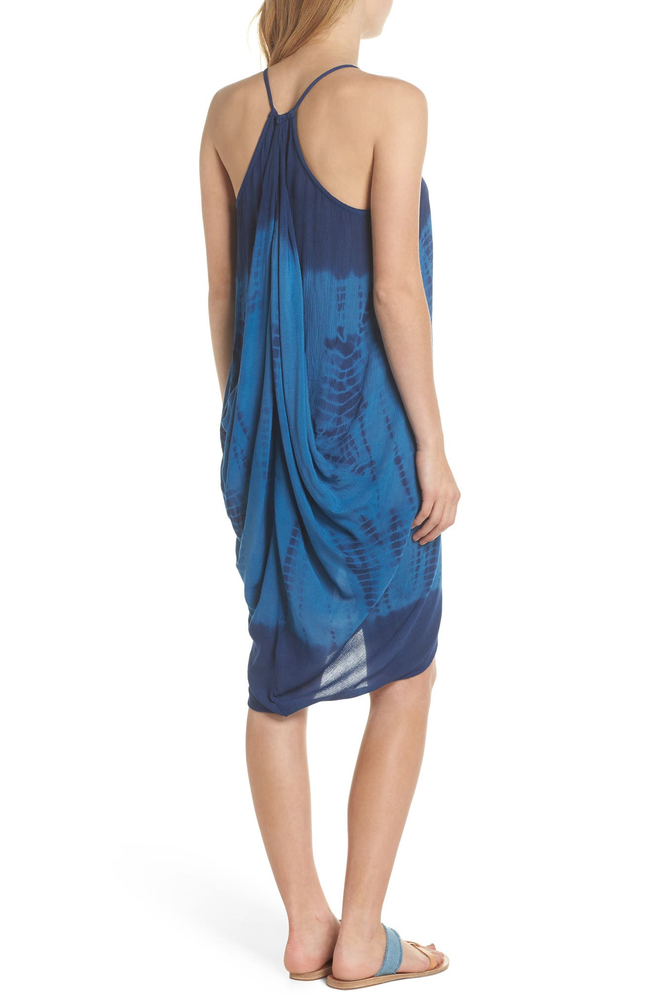 High Tide Pali Wrap Cover-Up Dress,                             Alternate thumbnail 2, color,                             Indigo