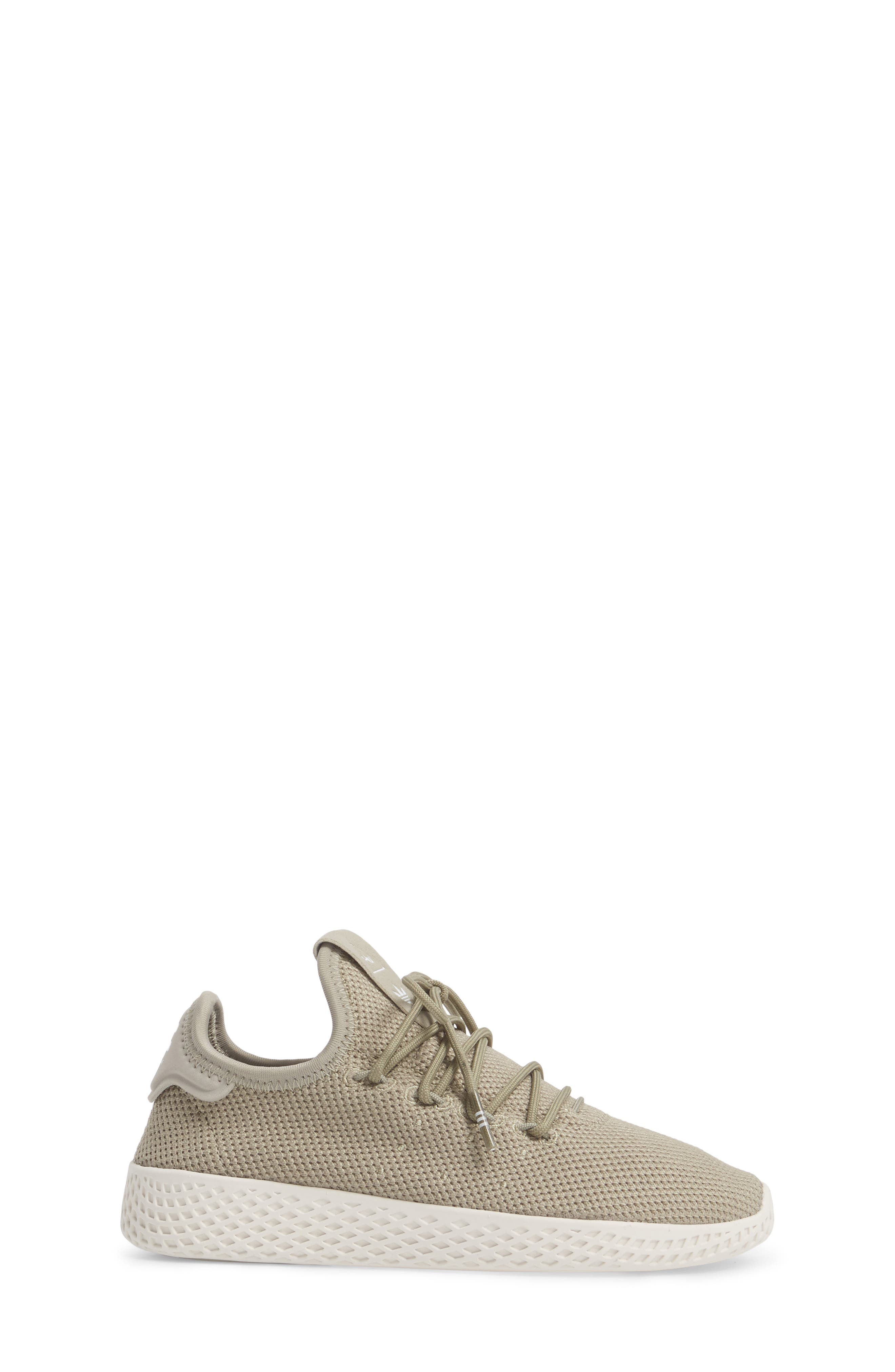 Pharrell Williams Tennis Hu Sock Sneaker,                             Alternate thumbnail 3, color,                             Tech Beige/ Chalk White