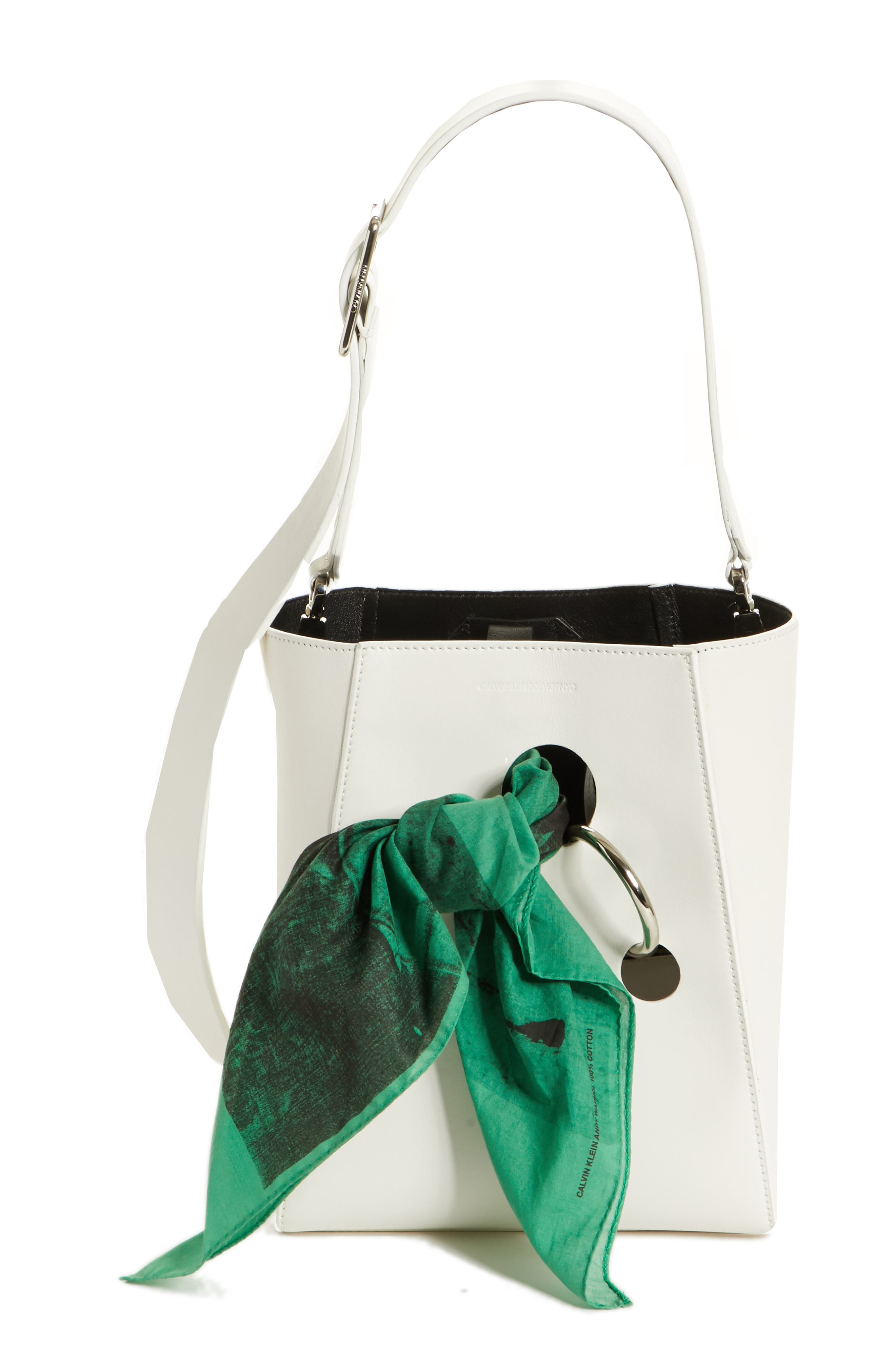 x Andy Warhol Foundation Small Bucket Bag with Bandana & Removable Pouch,                             Main thumbnail 1, color,                             White