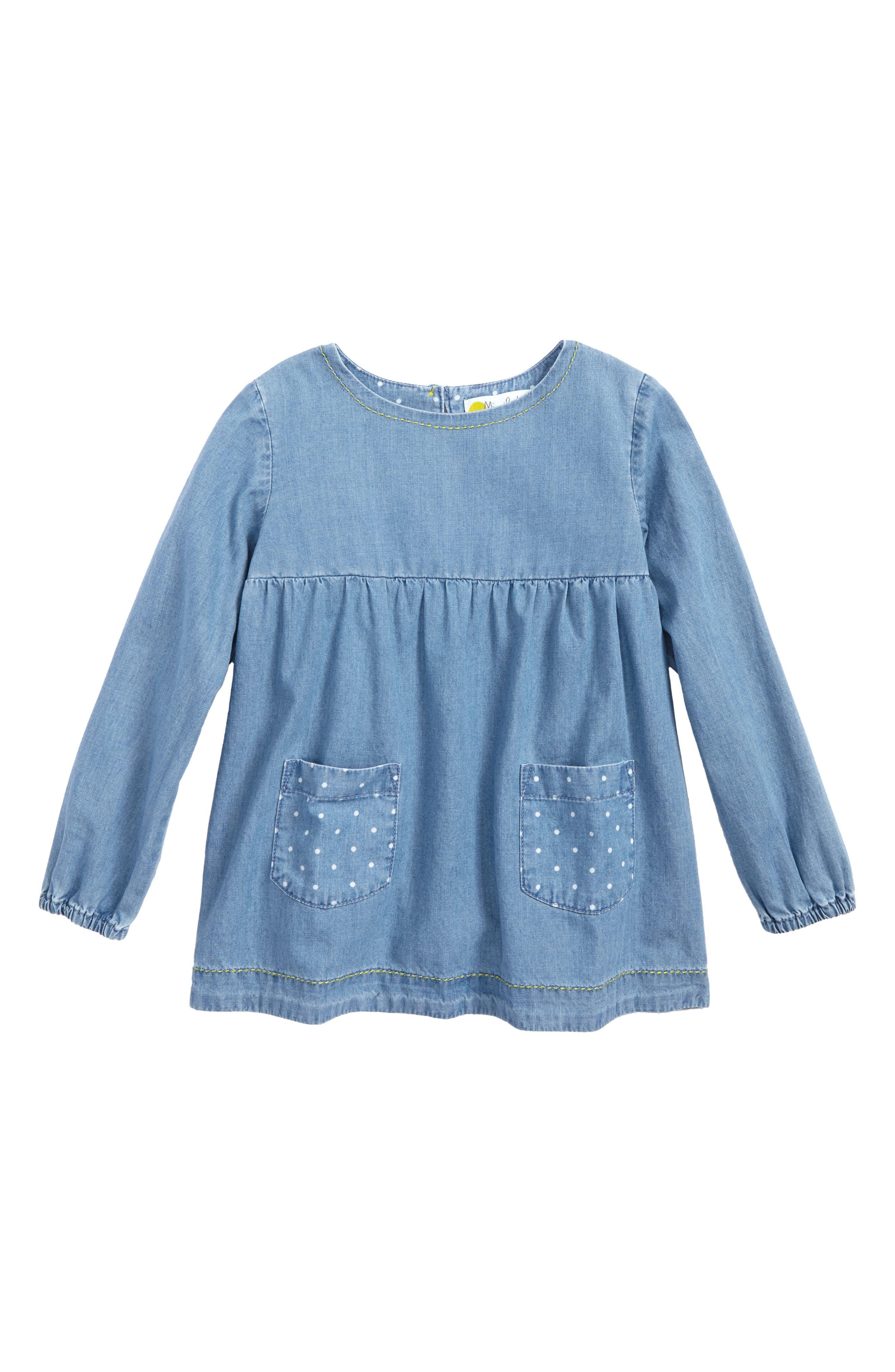 Mini Boden Chambray Tunic (Toddler Girls, Little Girls & Big Girls)