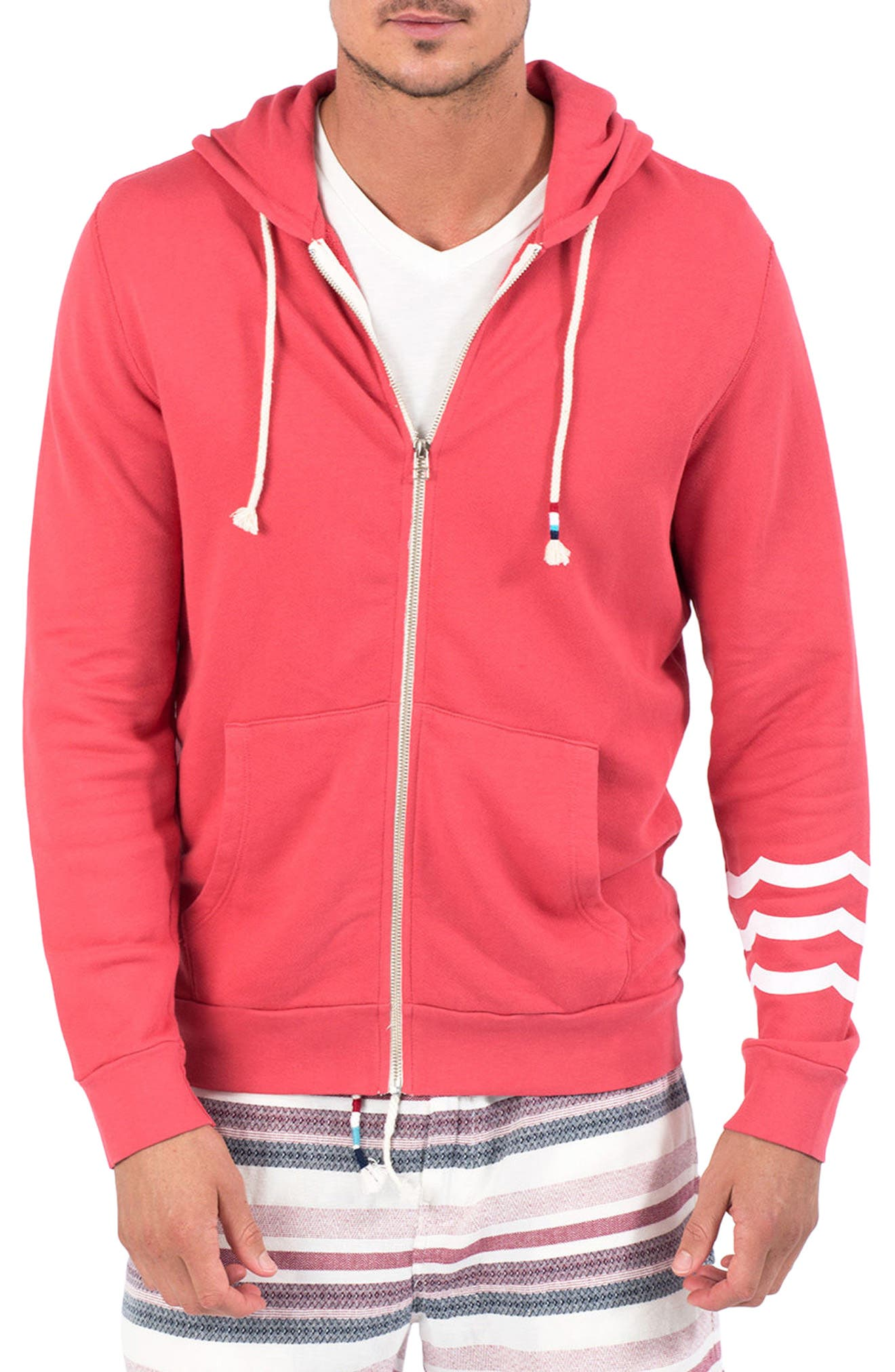 Essential Hoodie,                         Main,                         color, Rojo