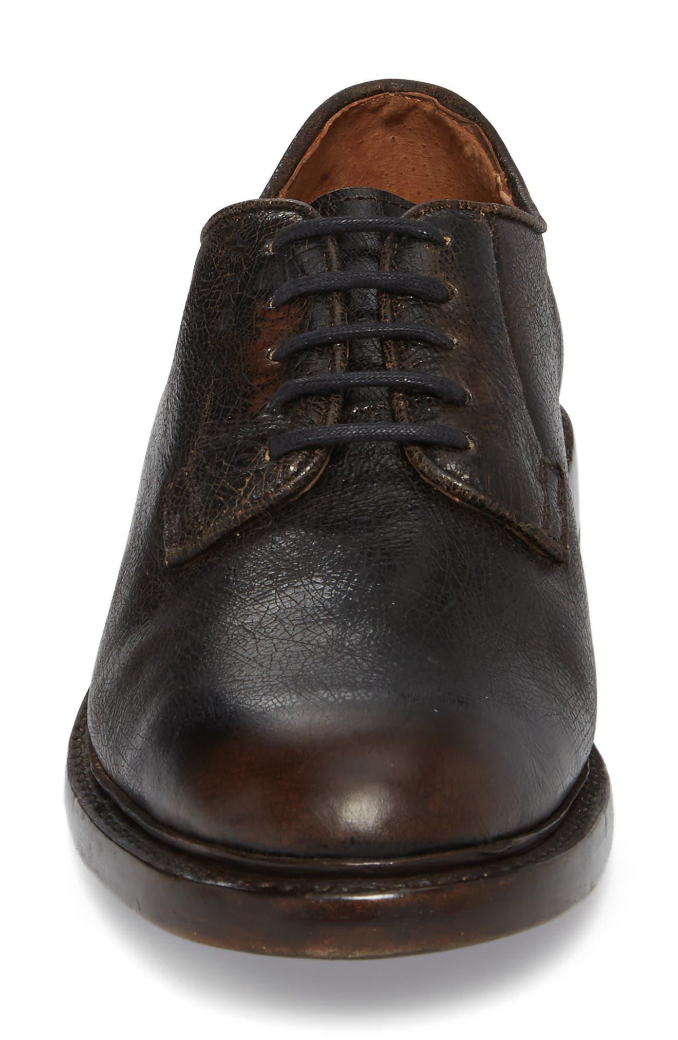 Jones Plain Toe Derby,                             Alternate thumbnail 4, color,                             Dark Brown Leather
