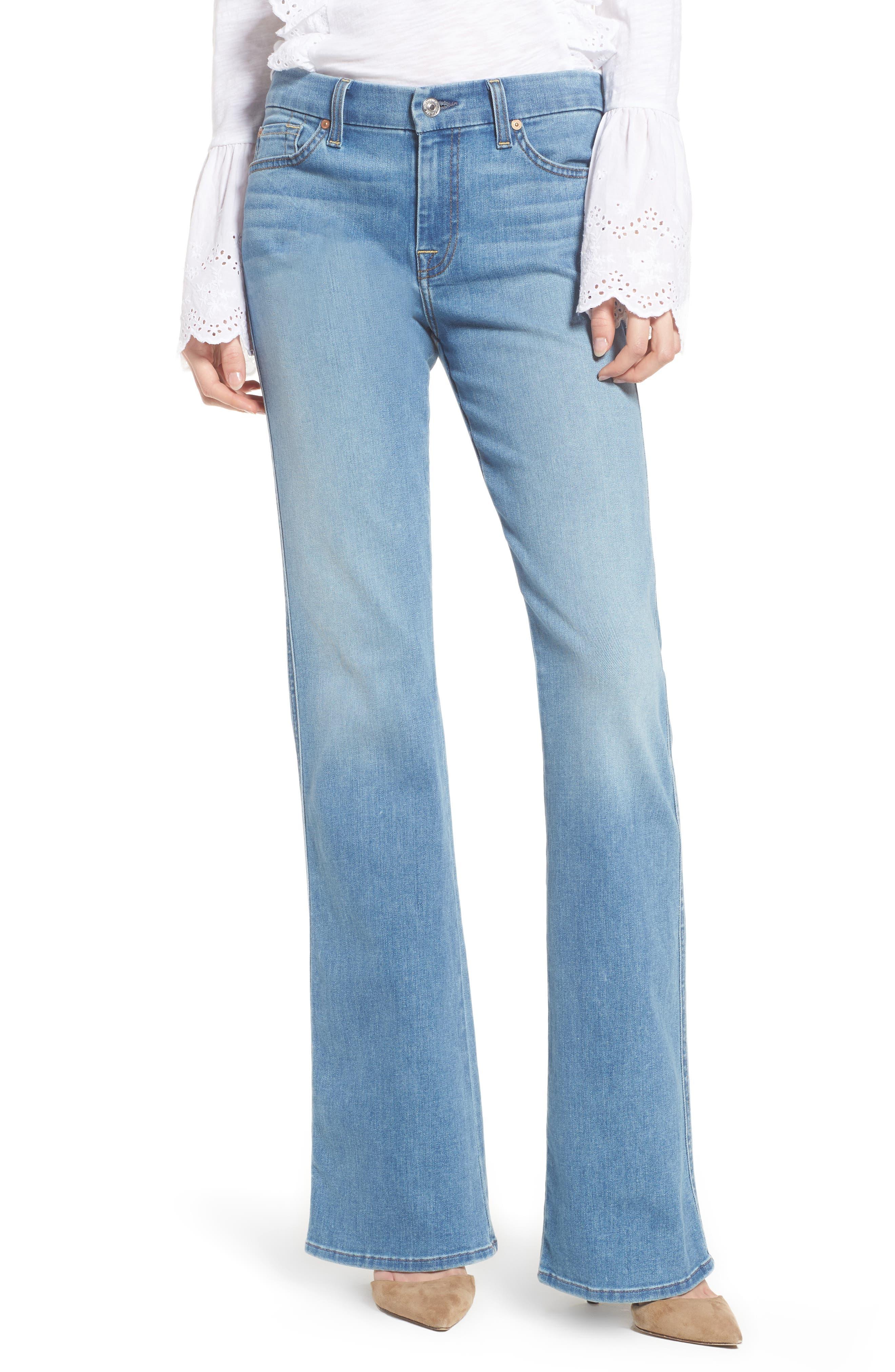 A-Pocket Flare Leg Jeans,                             Main thumbnail 1, color,                             Bright Palms