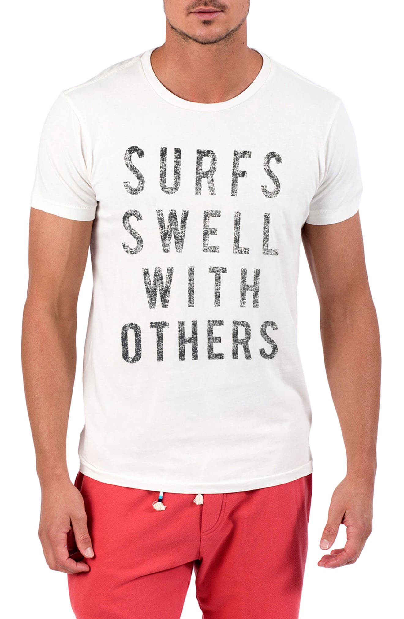 Surfs Swell T-Shirt,                         Main,                         color, D White