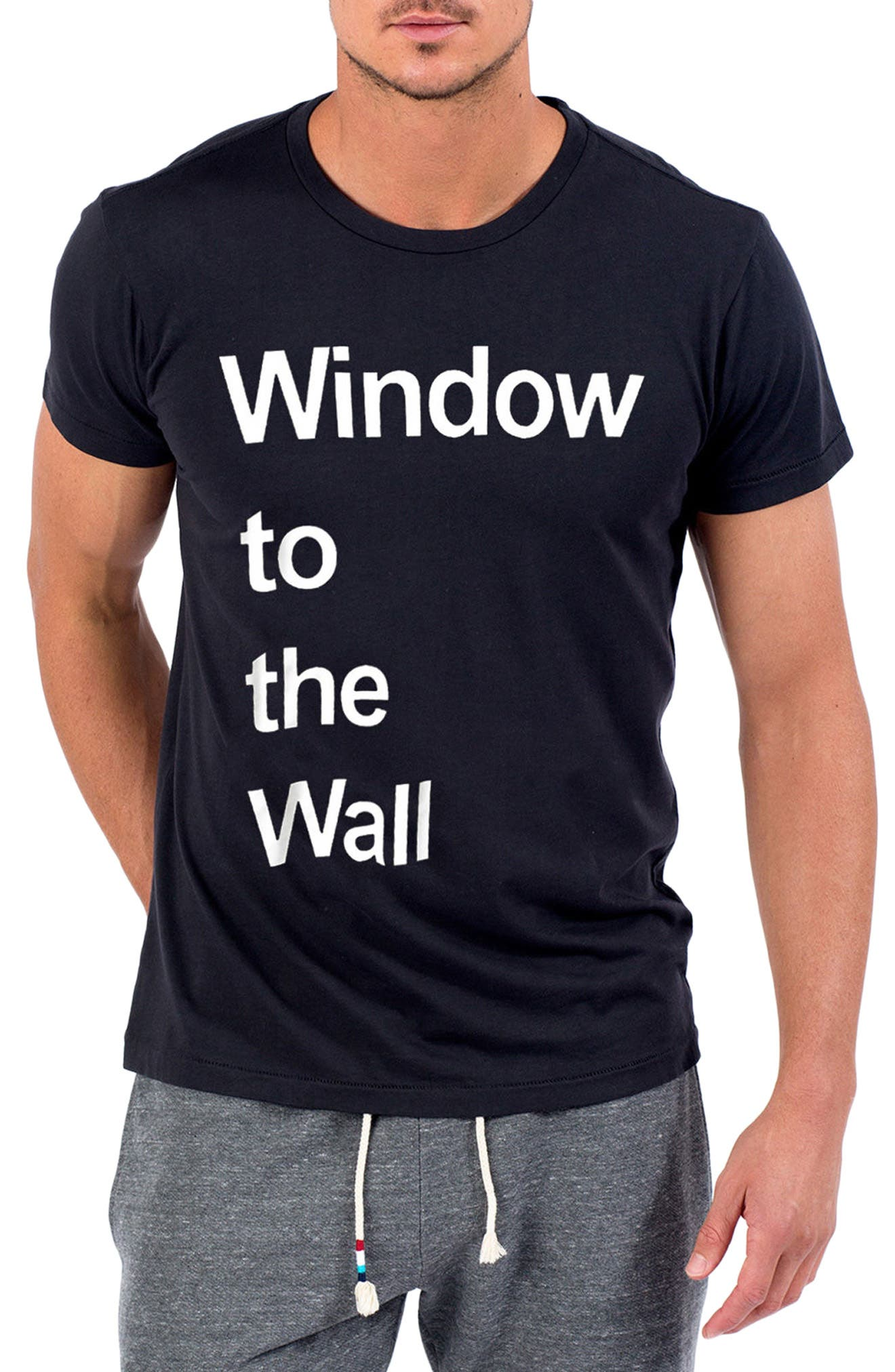 Window to The Wall T-Shirt,                         Main,                         color, V Black
