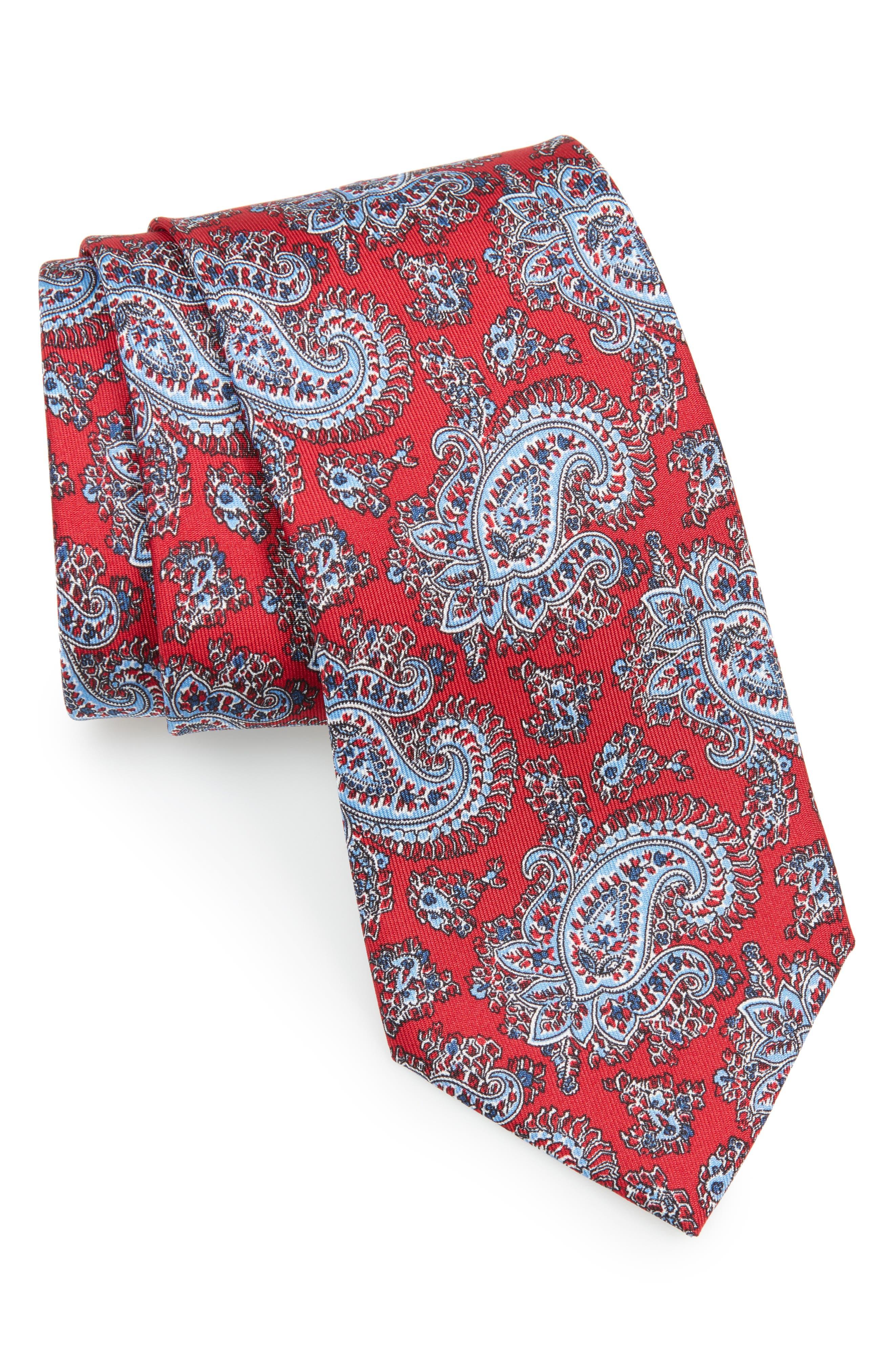 Main Image - Brioni Paisley Silk Tie