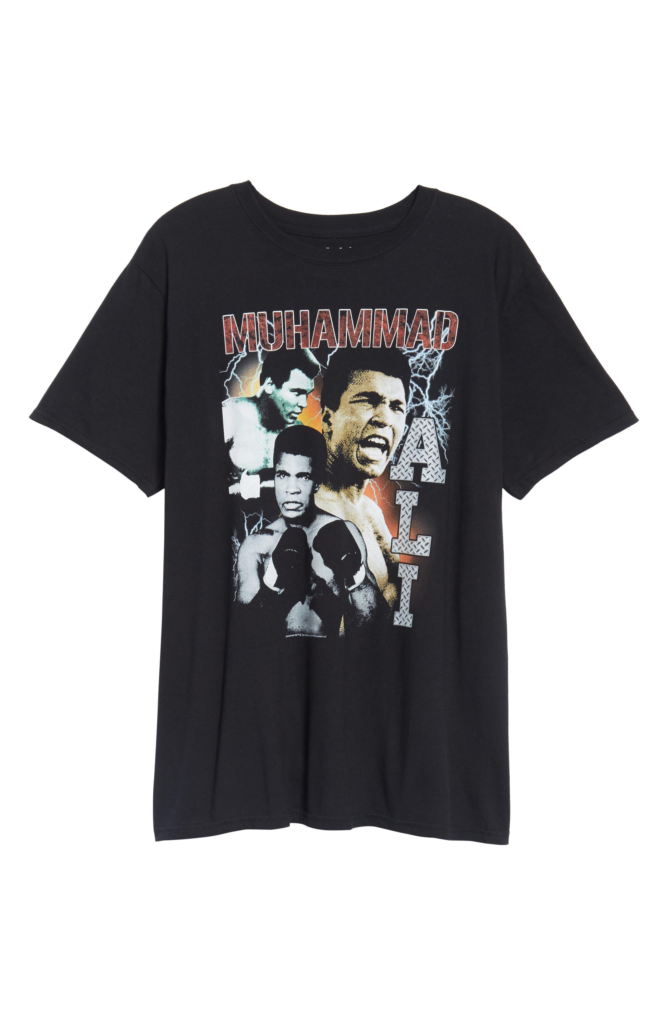 Muhammad Ali Graphic T-Shirt,                             Alternate thumbnail 6, color,                             Black Tee Muhammad Ali