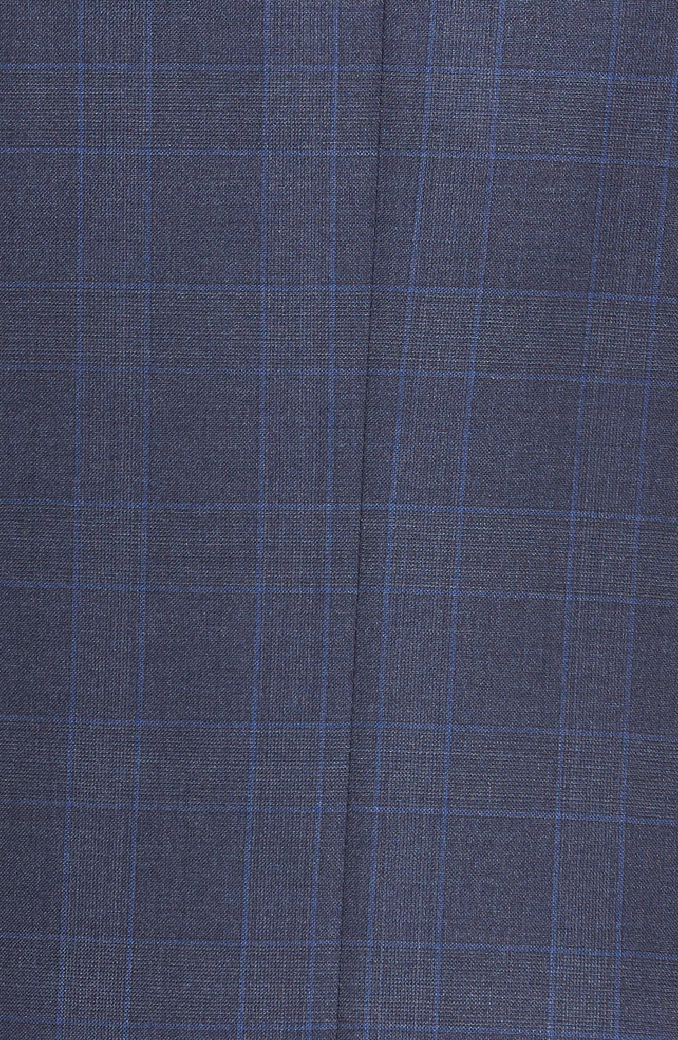 Classic Fit Windowpane Wool Suit,                             Alternate thumbnail 7, color,                             Blue