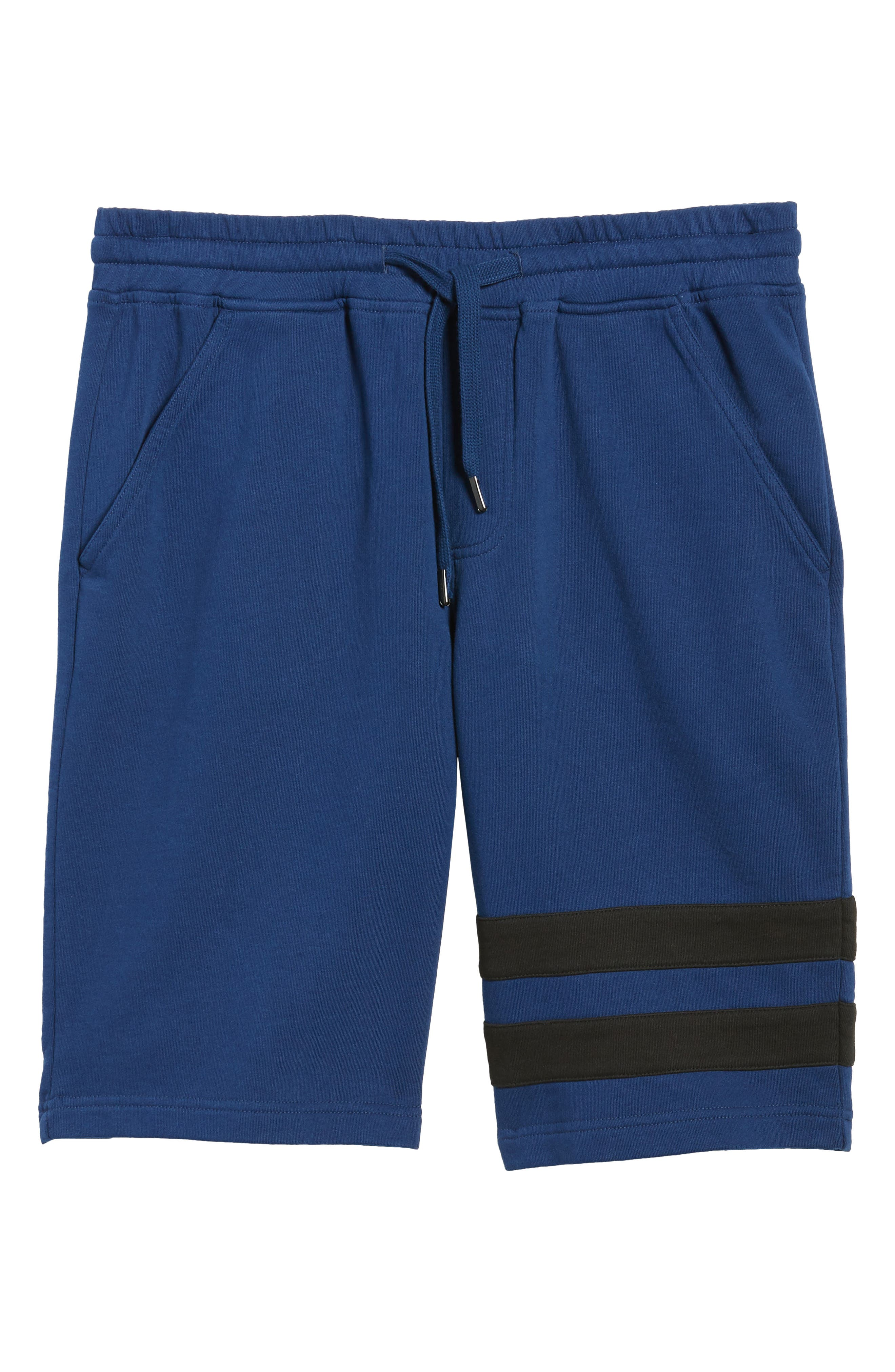 Stripe Athletic Shorts,                             Alternate thumbnail 6, color,                             Night Rider