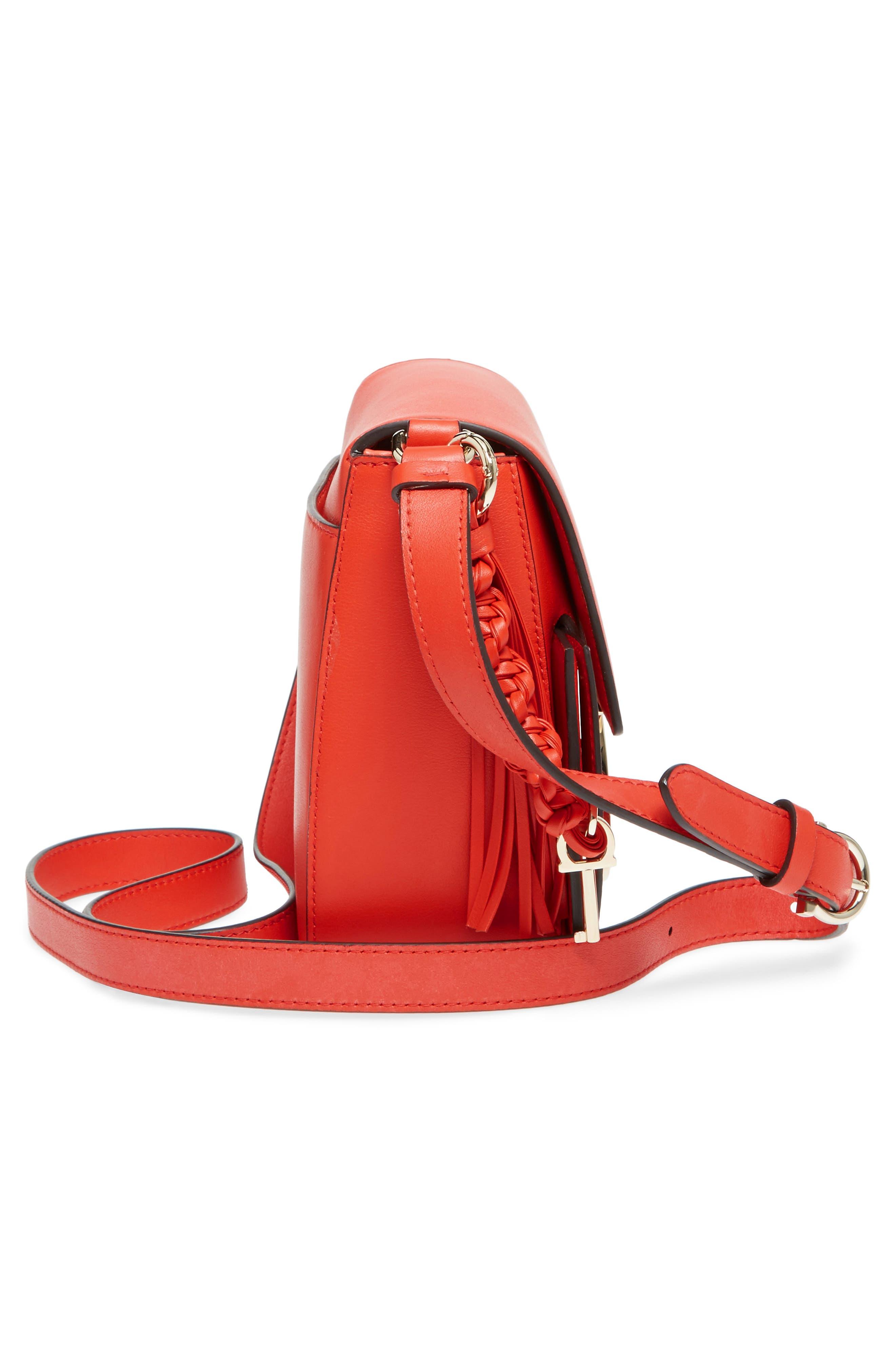 Alternate Image 5  - Salvatore Ferragamo Gancio Lock Leather Crossbody Bag