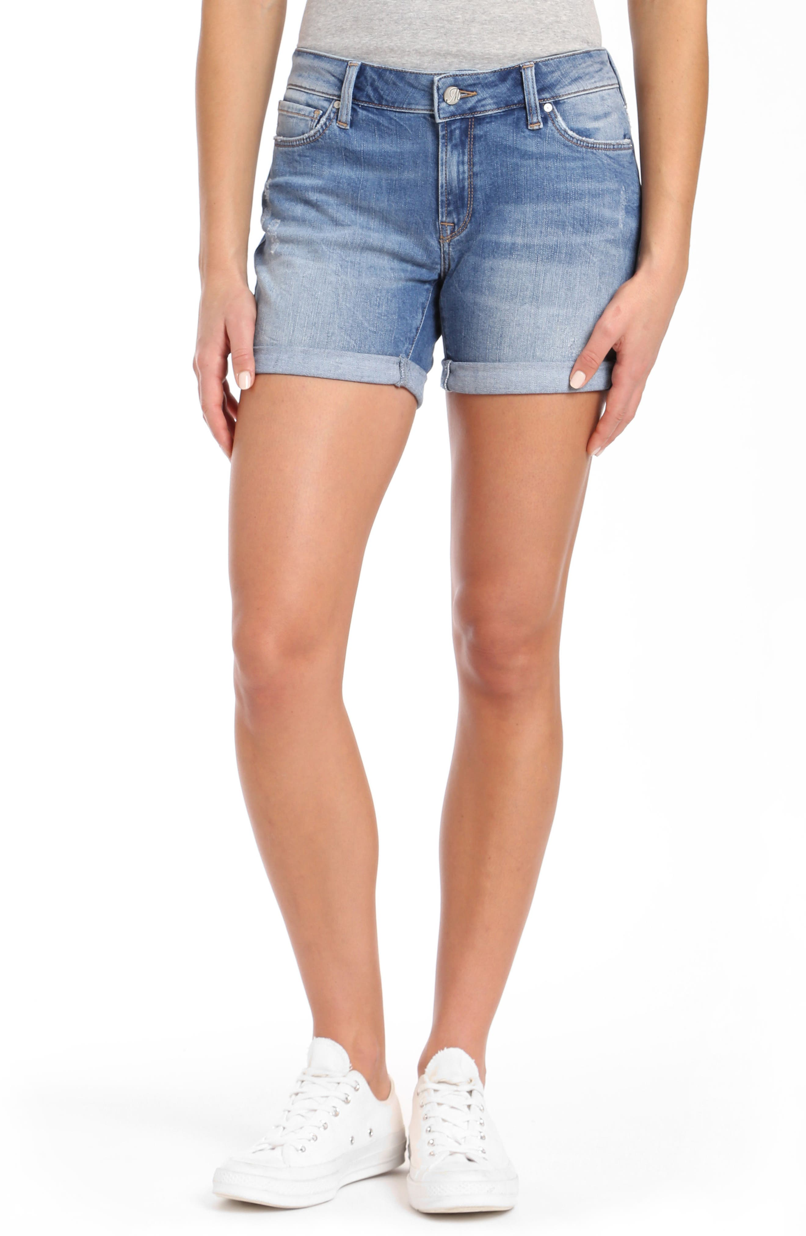 Pixie Denim Boyfriend Shorts,                             Main thumbnail 1, color,                             Distressed Vintage