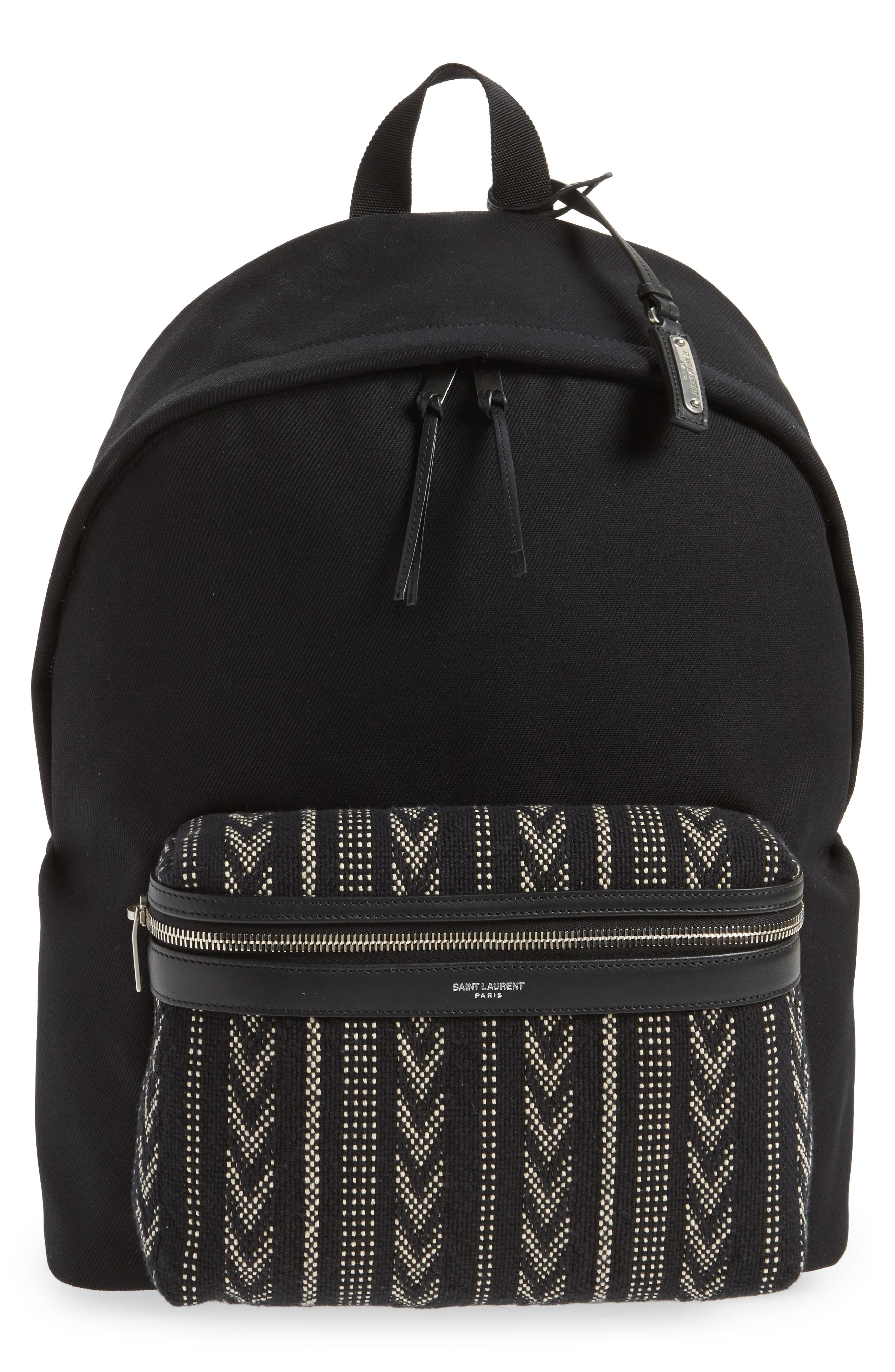 Pattern City Backpack,                             Main thumbnail 1, color,                             Black/ White