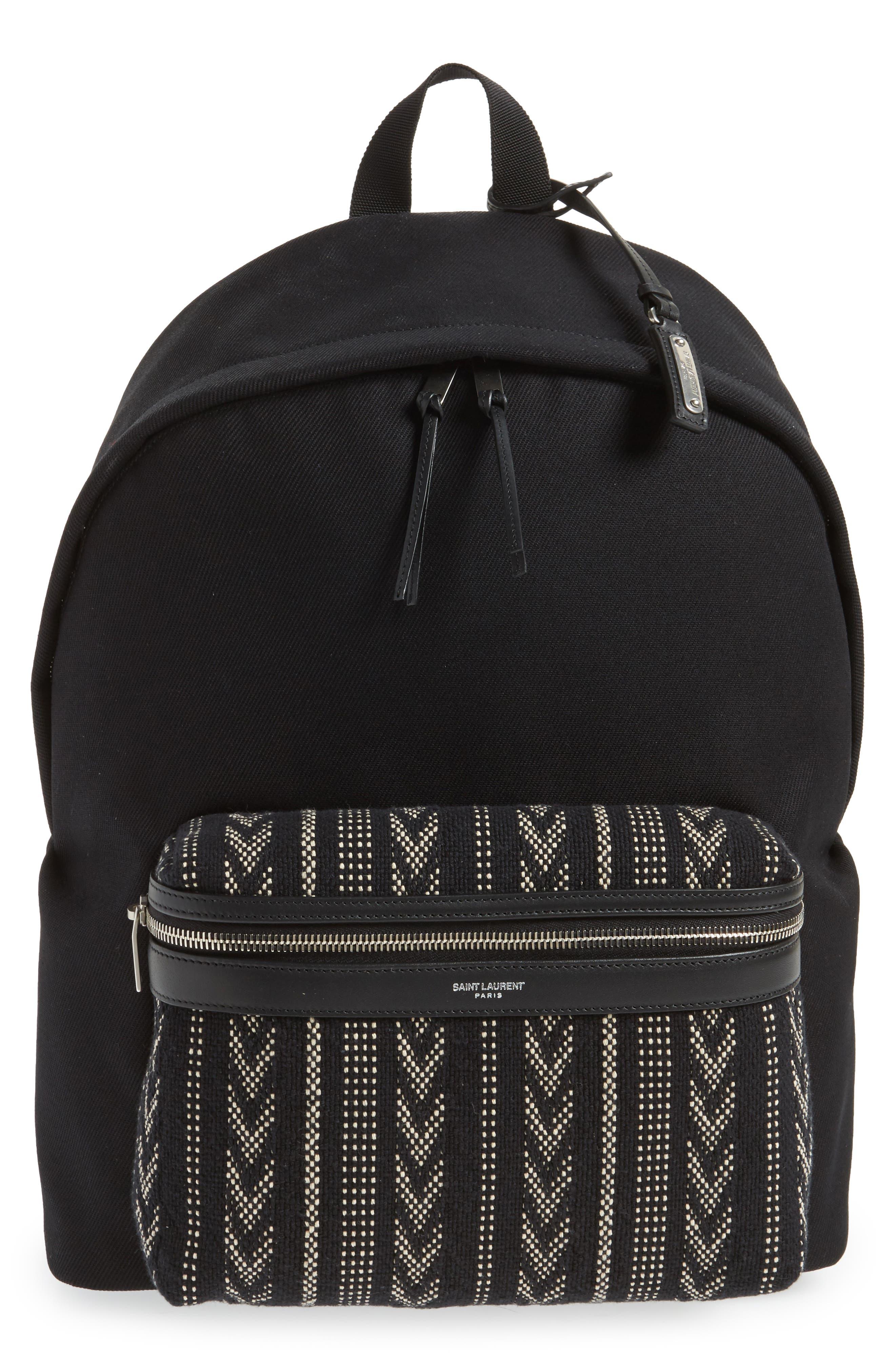 Saint Laurent Pattern City Backpack