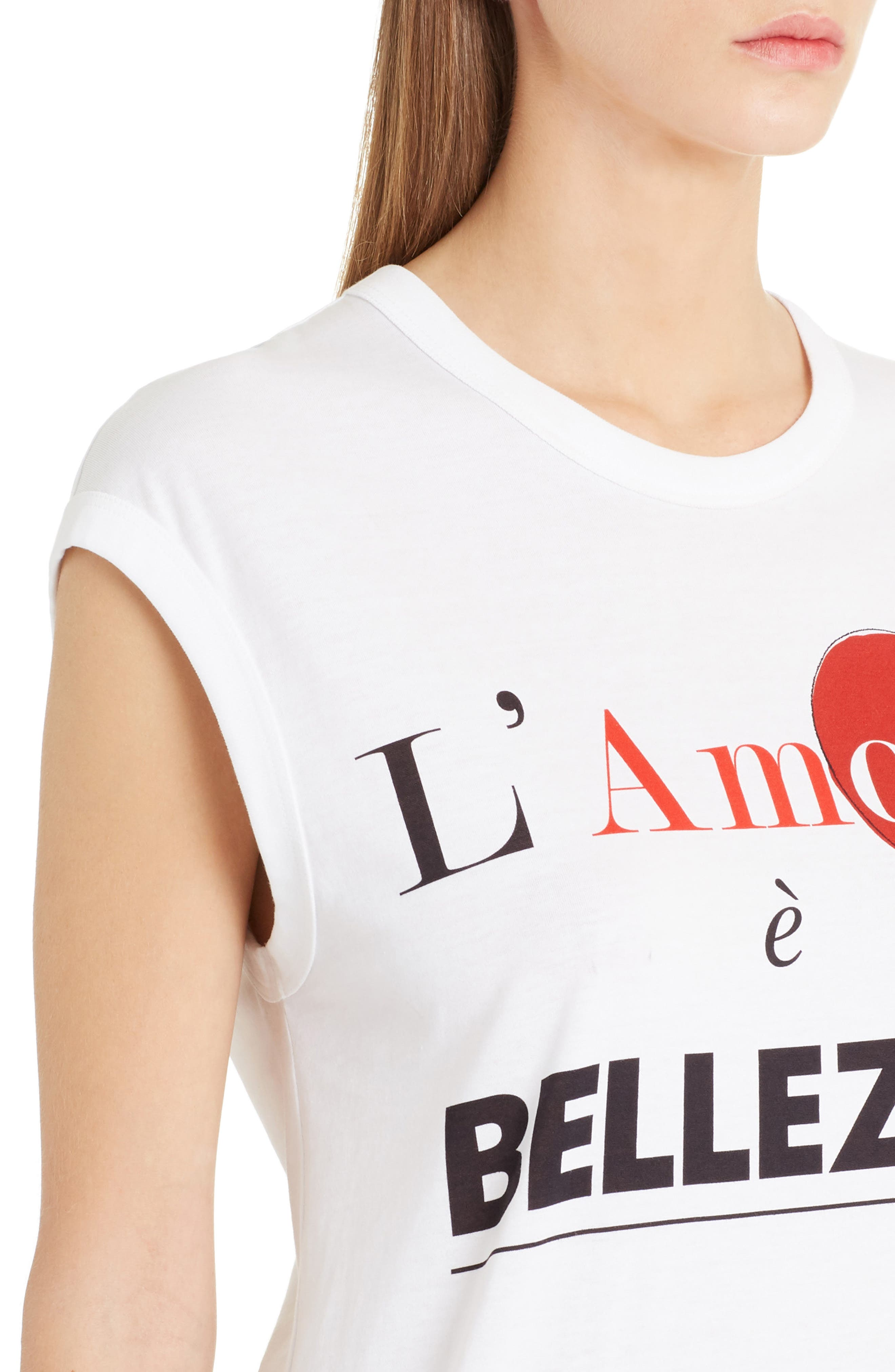 Amore Graphic Tank Top,                             Alternate thumbnail 4, color,                             White