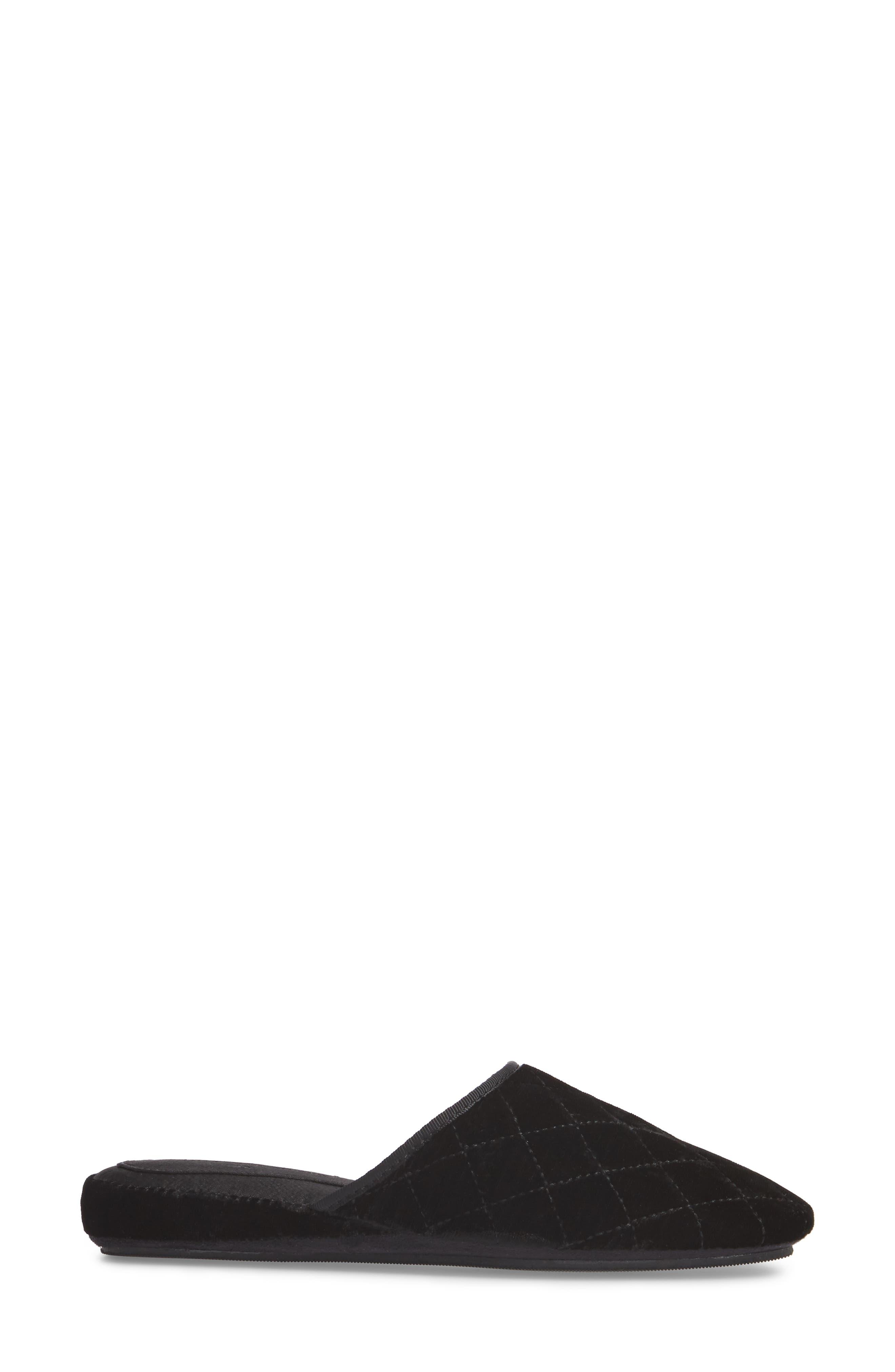 Geraldine Slipper,                             Alternate thumbnail 3, color,                             Black Velvet