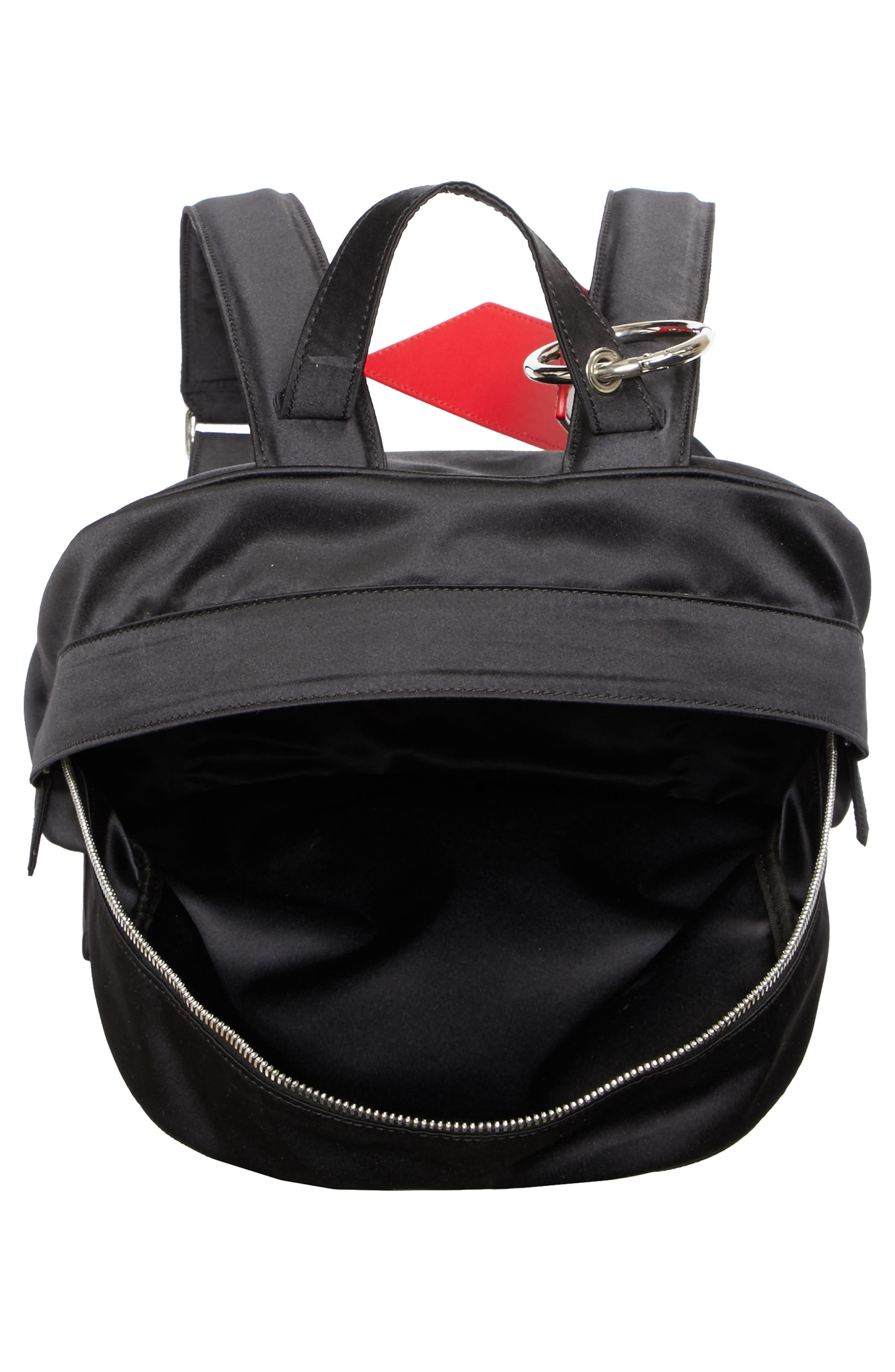 x Andy Warhol Foundation Nylon Backpack,                             Alternate thumbnail 4, color,                             Black/ Red/ Black