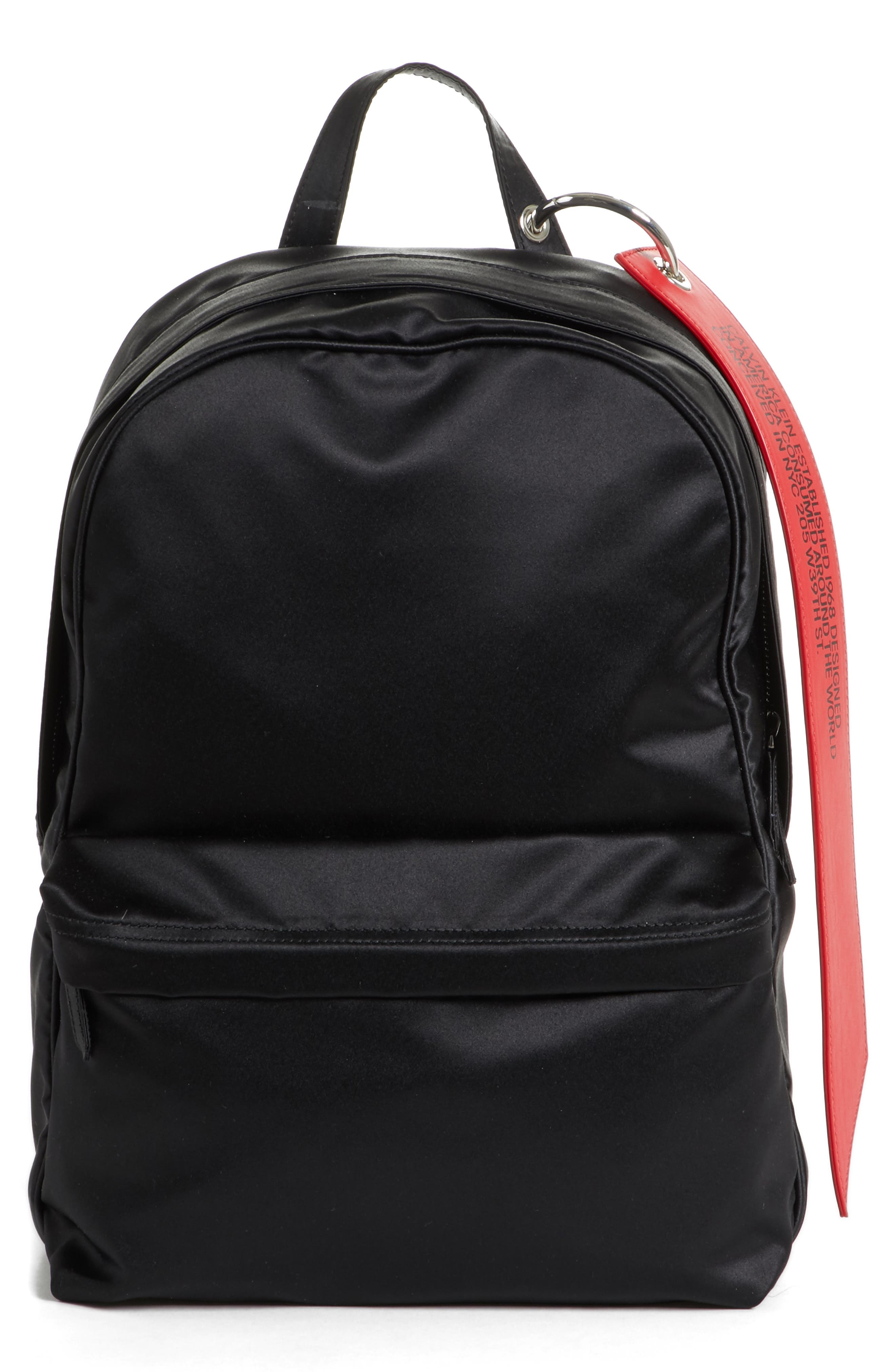 x Andy Warhol Foundation Nylon Backpack,                             Main thumbnail 1, color,                             Black/ Red/ Black