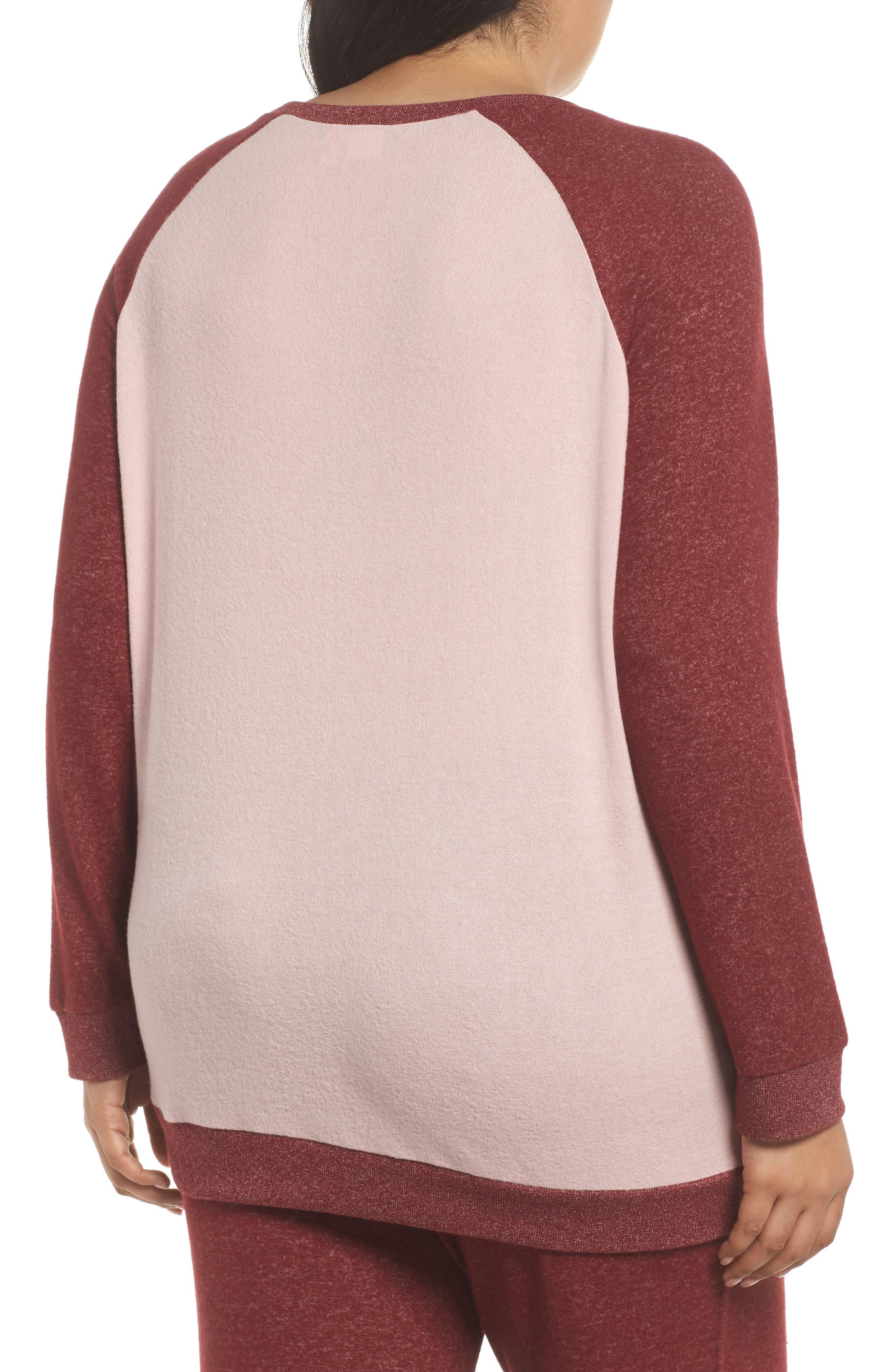 Alternate Image 2  - Make + Model Cozy Crew Lounge Sweater (Plus Size)