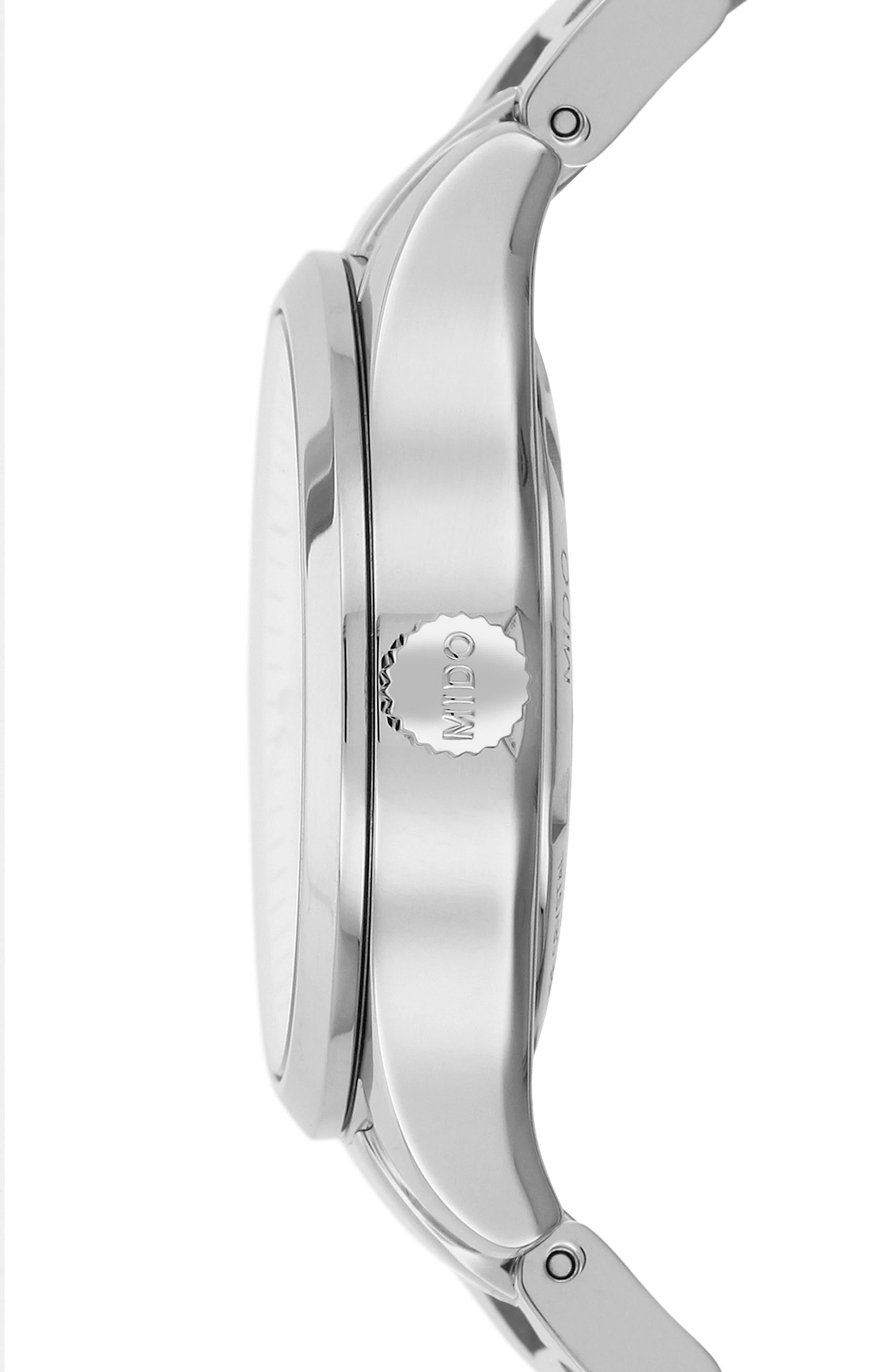 Multifort Automatic Bracelet Watch, 31mm,                             Alternate thumbnail 3, color,                             Silver/ Mop/ Silver