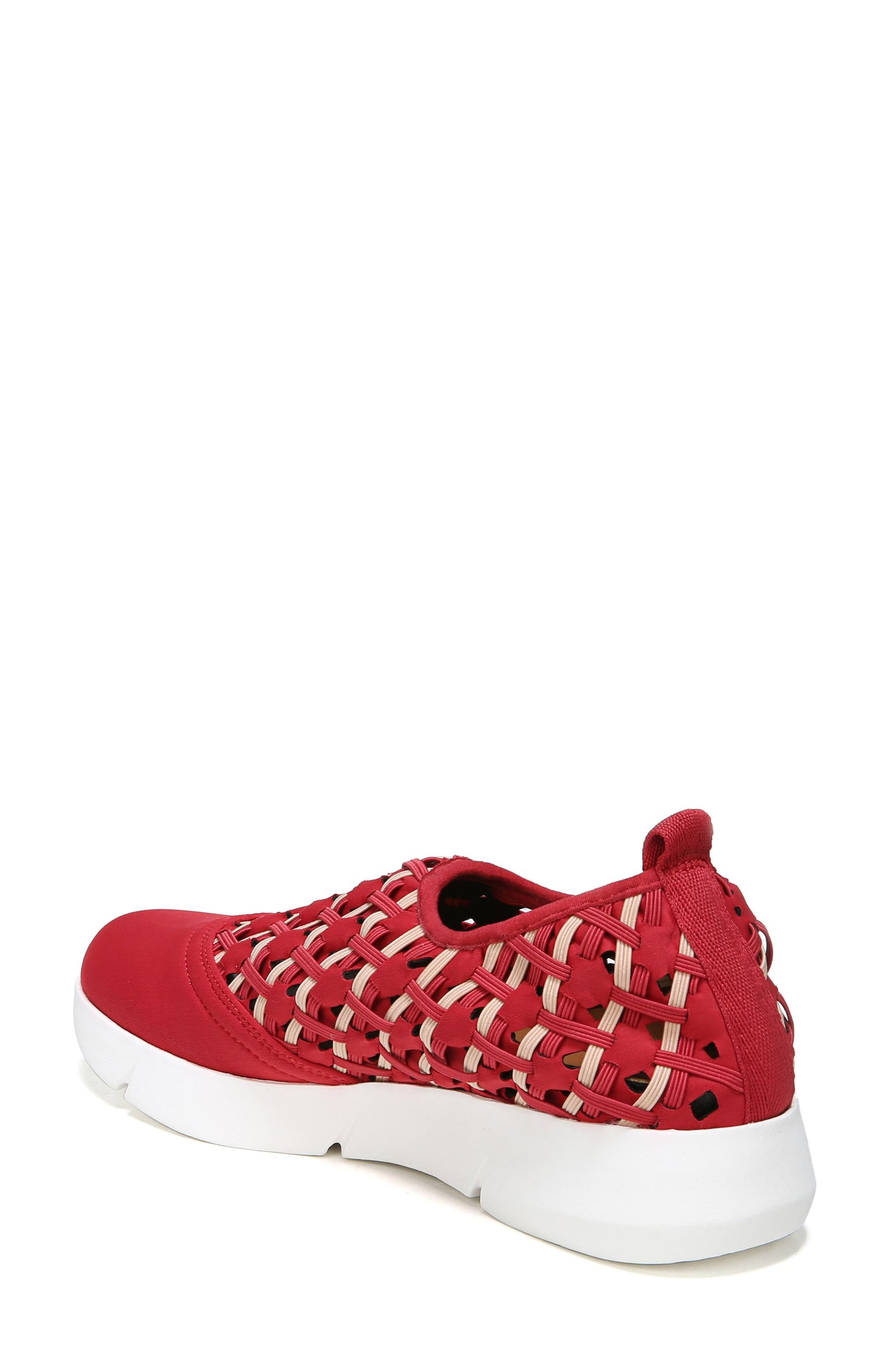 Fallan Woven Slip-On Sneaker,                             Alternate thumbnail 2, color,                             Deep Red Leather