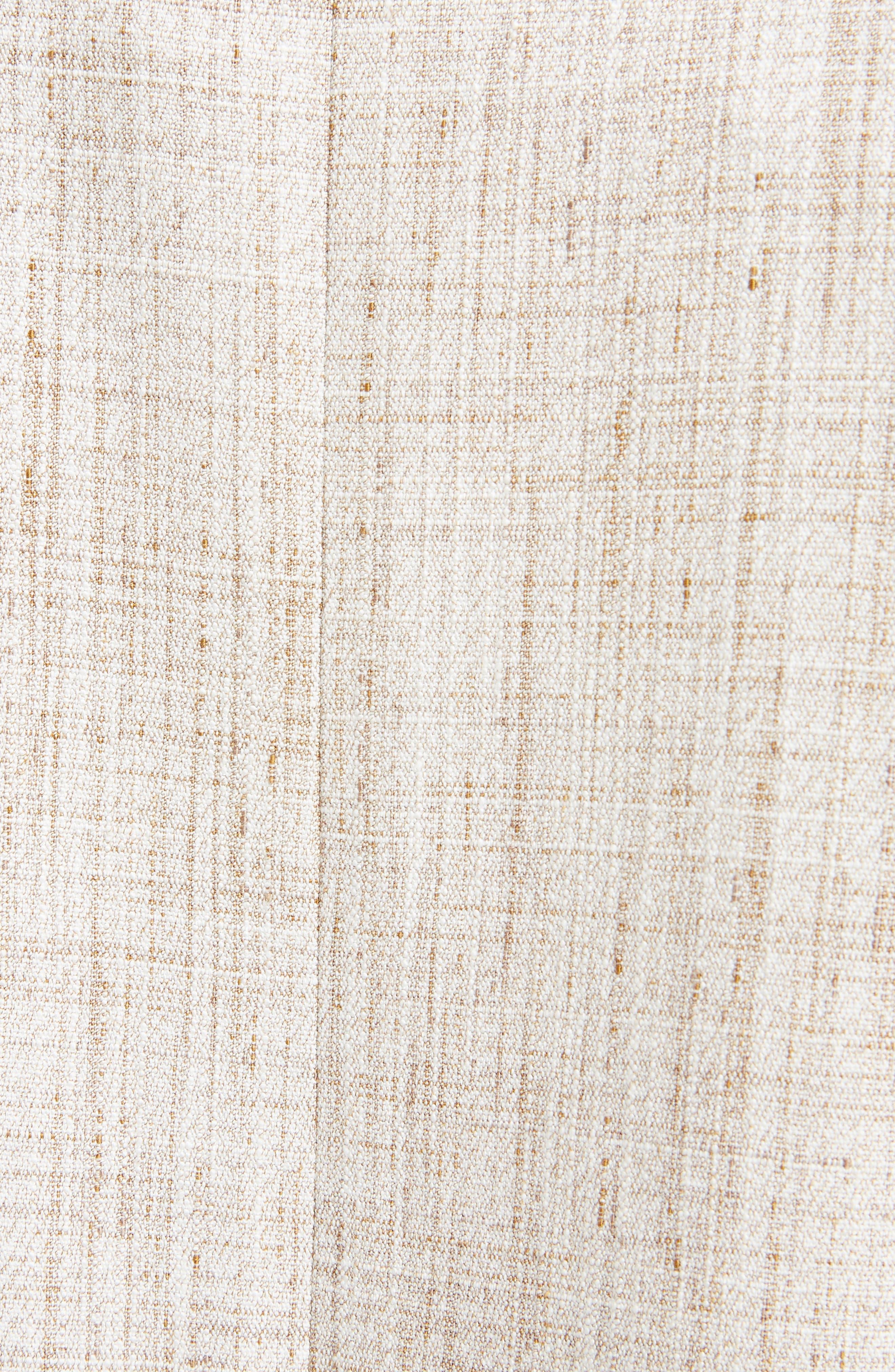 Asymmetrical Tweed Vest,                             Alternate thumbnail 5, color,                             White-Beige