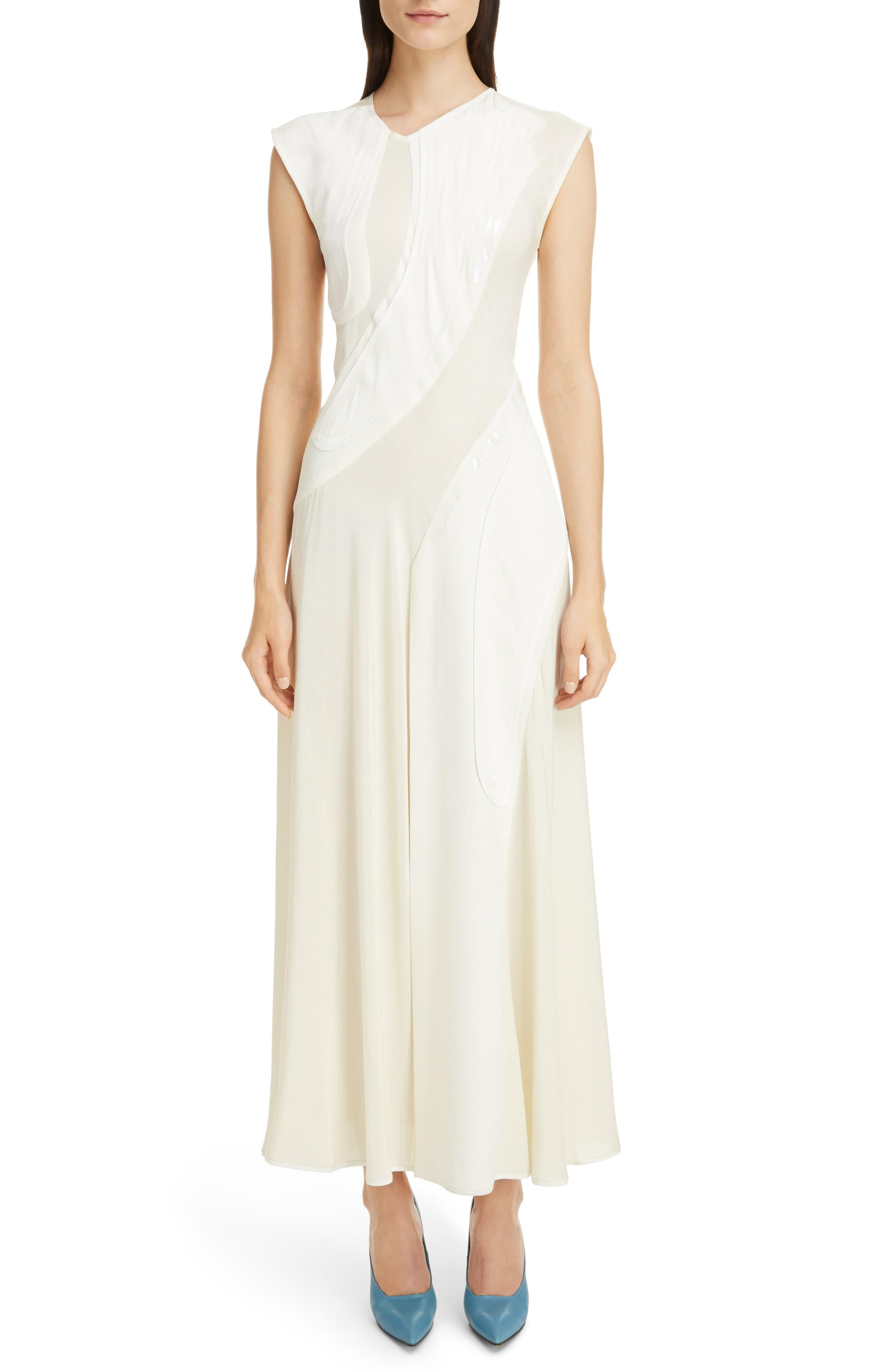 Patchwork Maxi Dress,                         Main,                         color, Off White