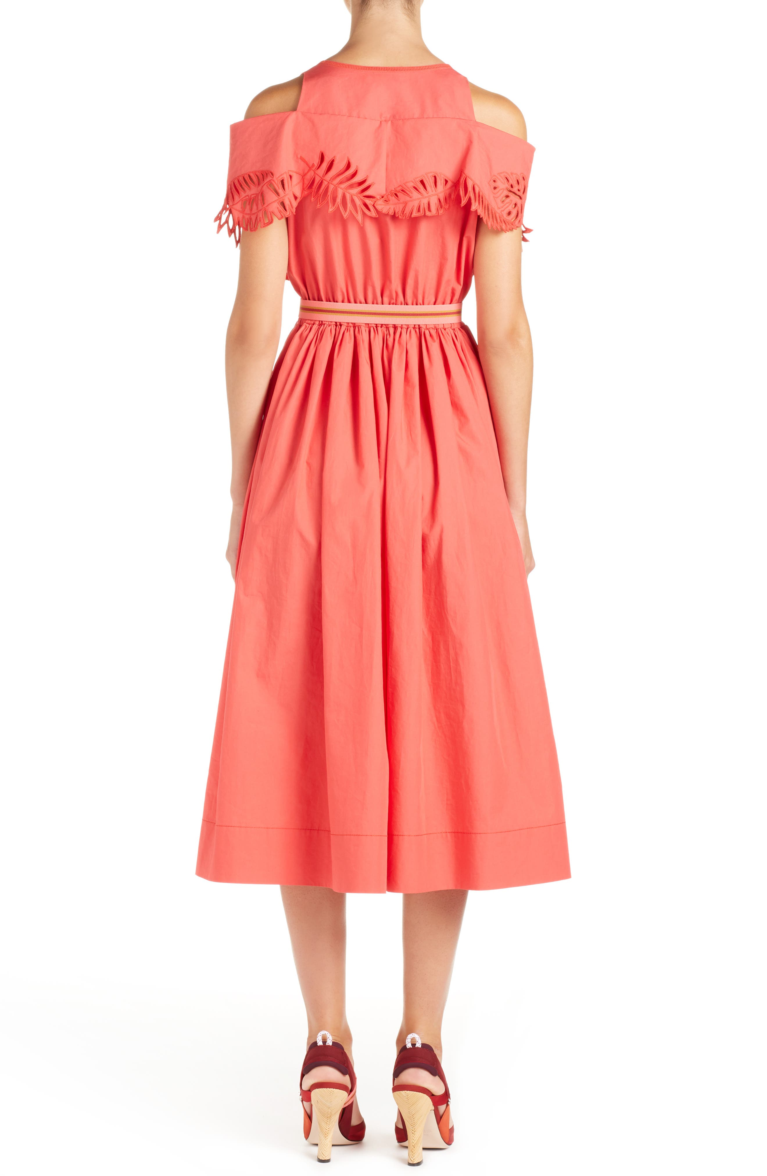 Alternate Image 2  - Fendi Cold Shoulder Taffeta Midi Dress