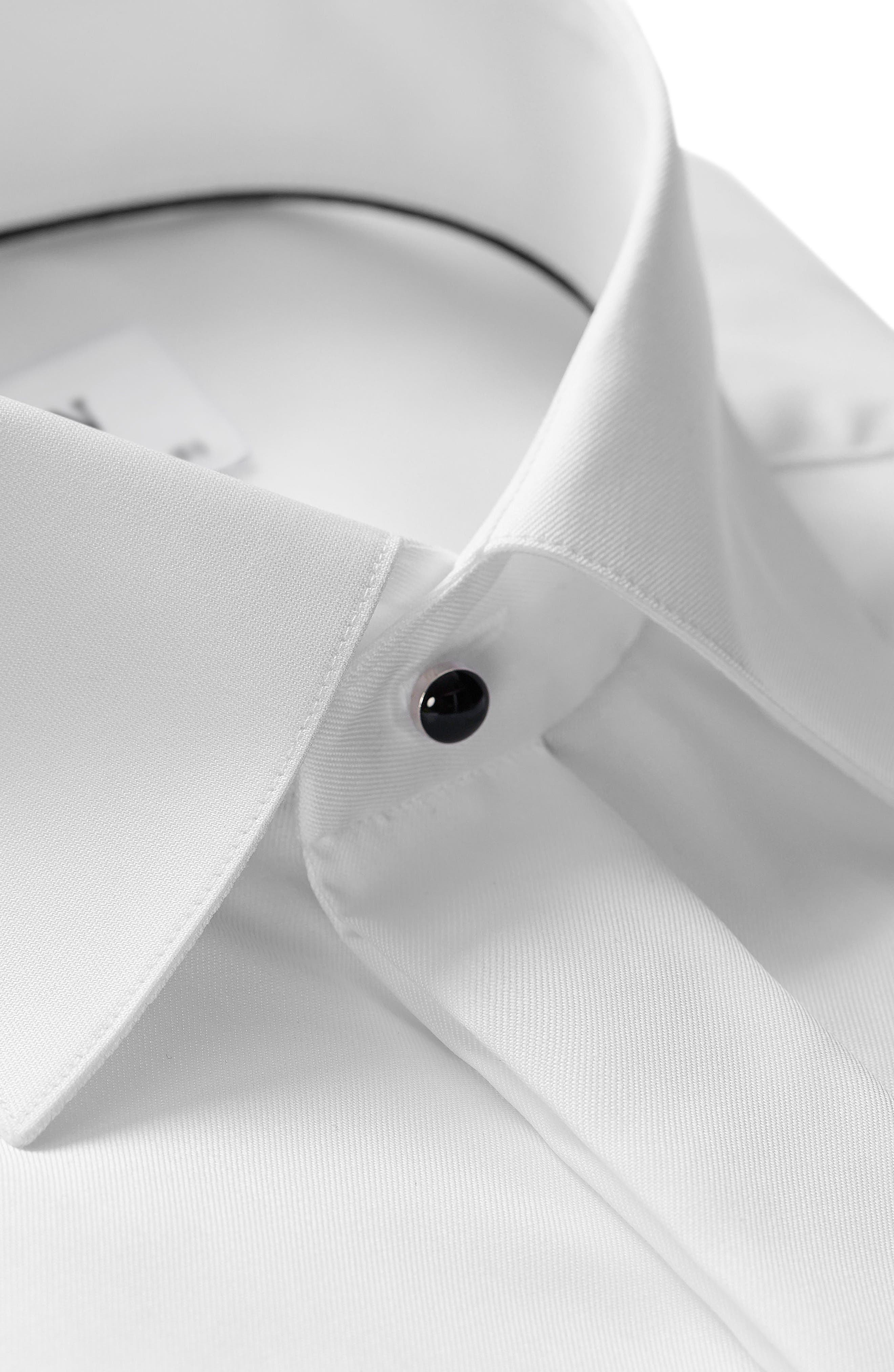 Slim Fit Solid Tuxedo Shirt,                             Alternate thumbnail 2, color,                             White