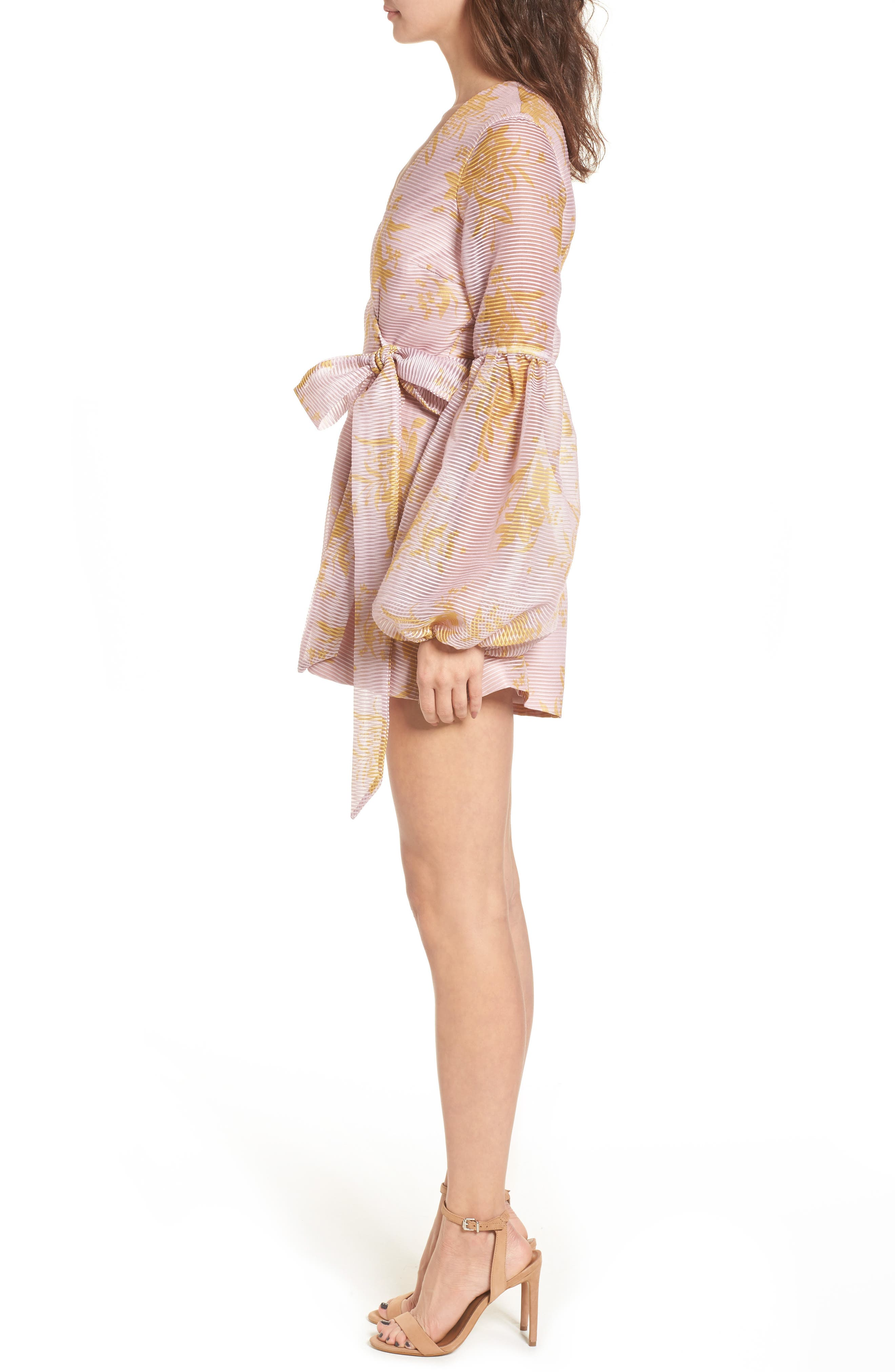 Stand Tall Romper,                             Alternate thumbnail 3, color,                             Blush Stencil Floral