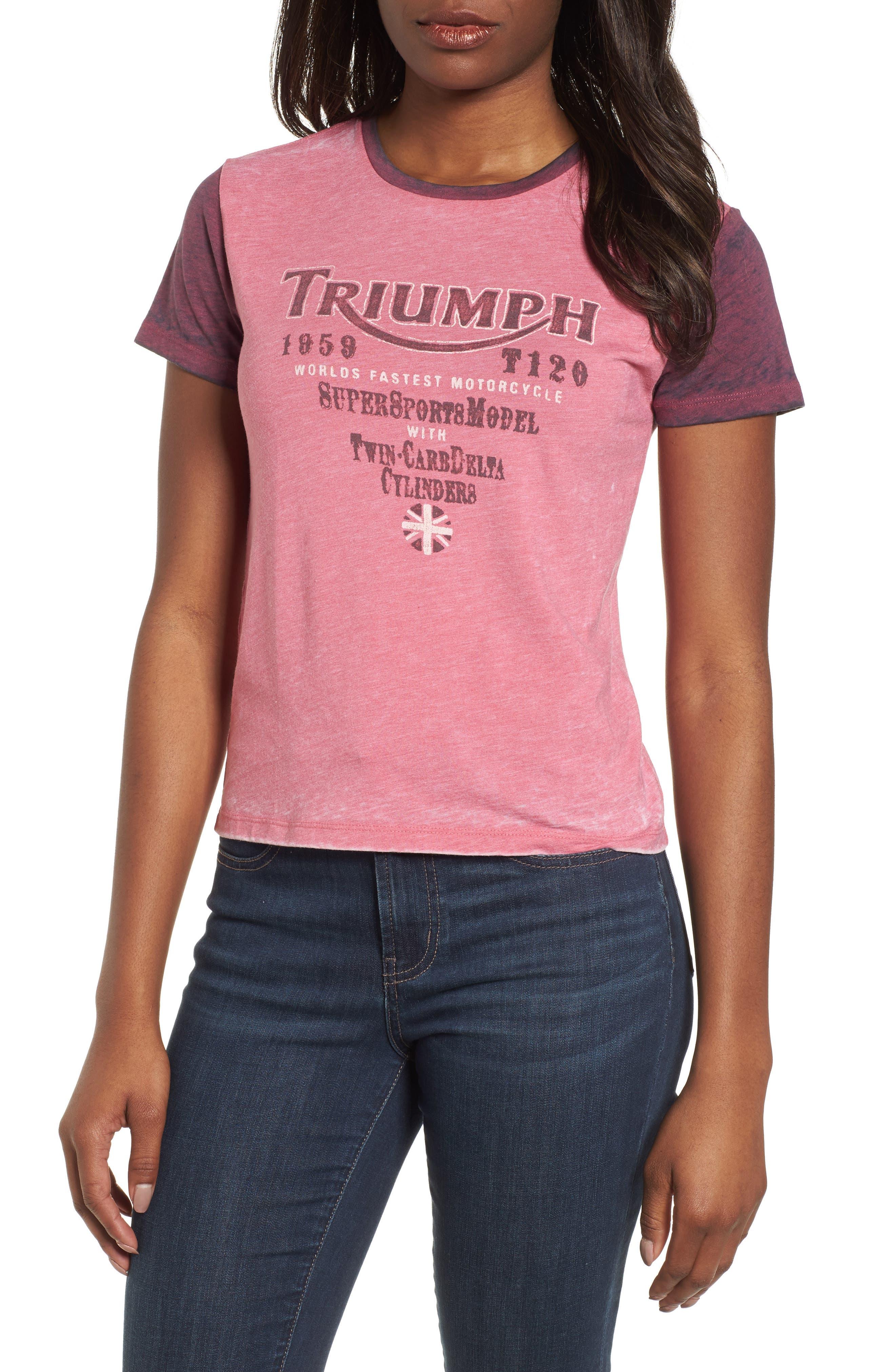 Triumph Tee,                         Main,                         color, Red Multi