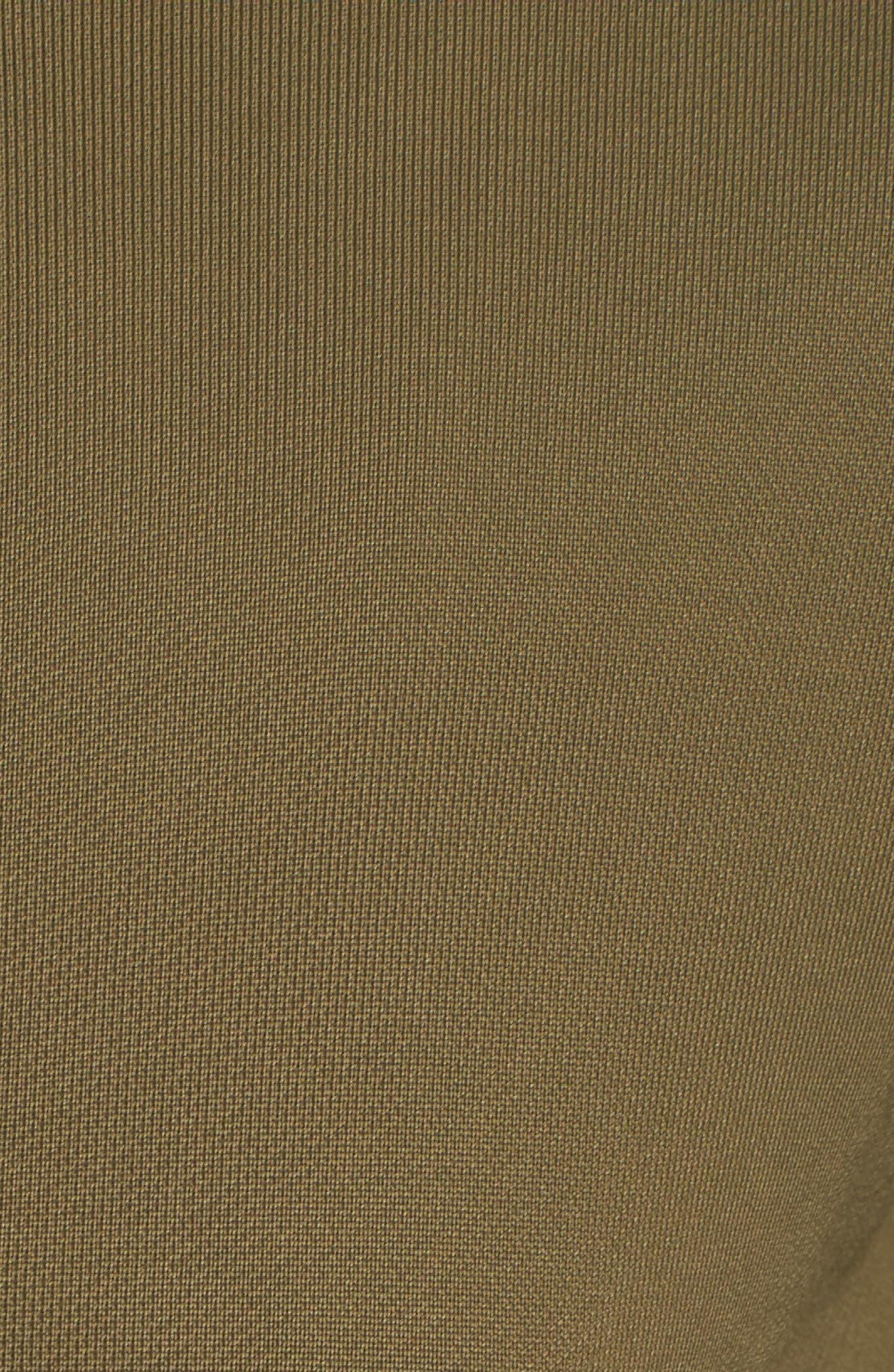 NikeLab Women's Mixed Media Bomber Jacket,                             Alternate thumbnail 5, color,                             Olive Canvas/ Black