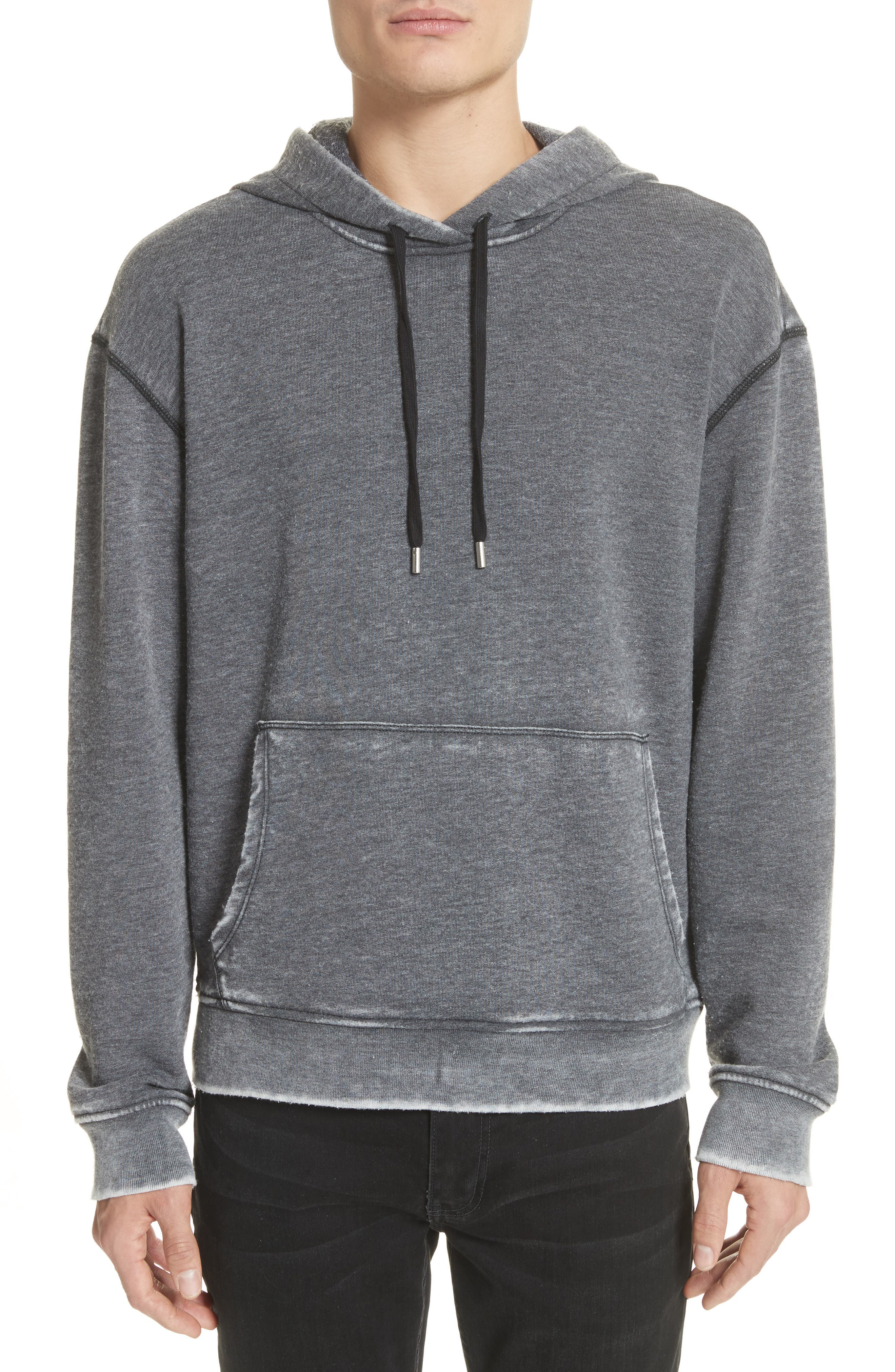 Hoodie,                             Main thumbnail 1, color,                             Bleached Charcoal
