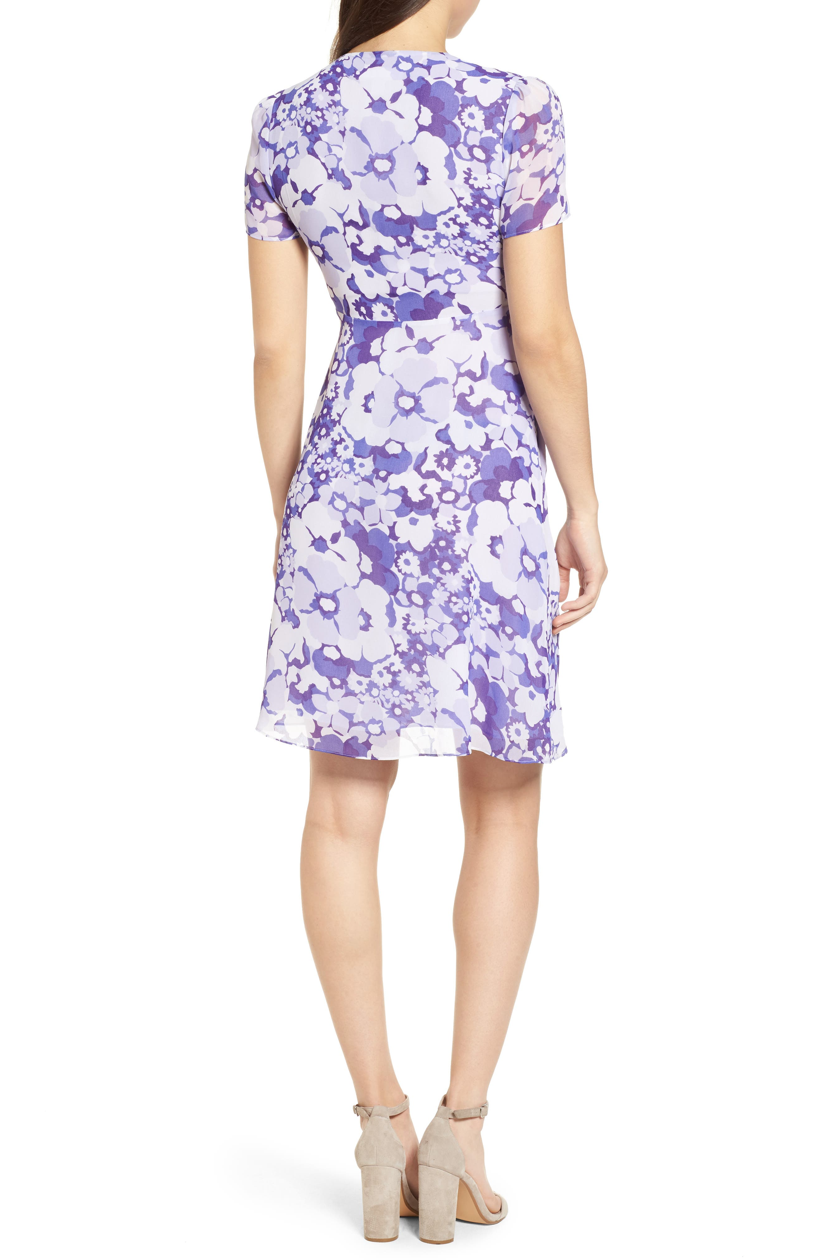 Springtime Floral Dress,                             Alternate thumbnail 2, color,                             Amethyst/ Light Quartz Multi