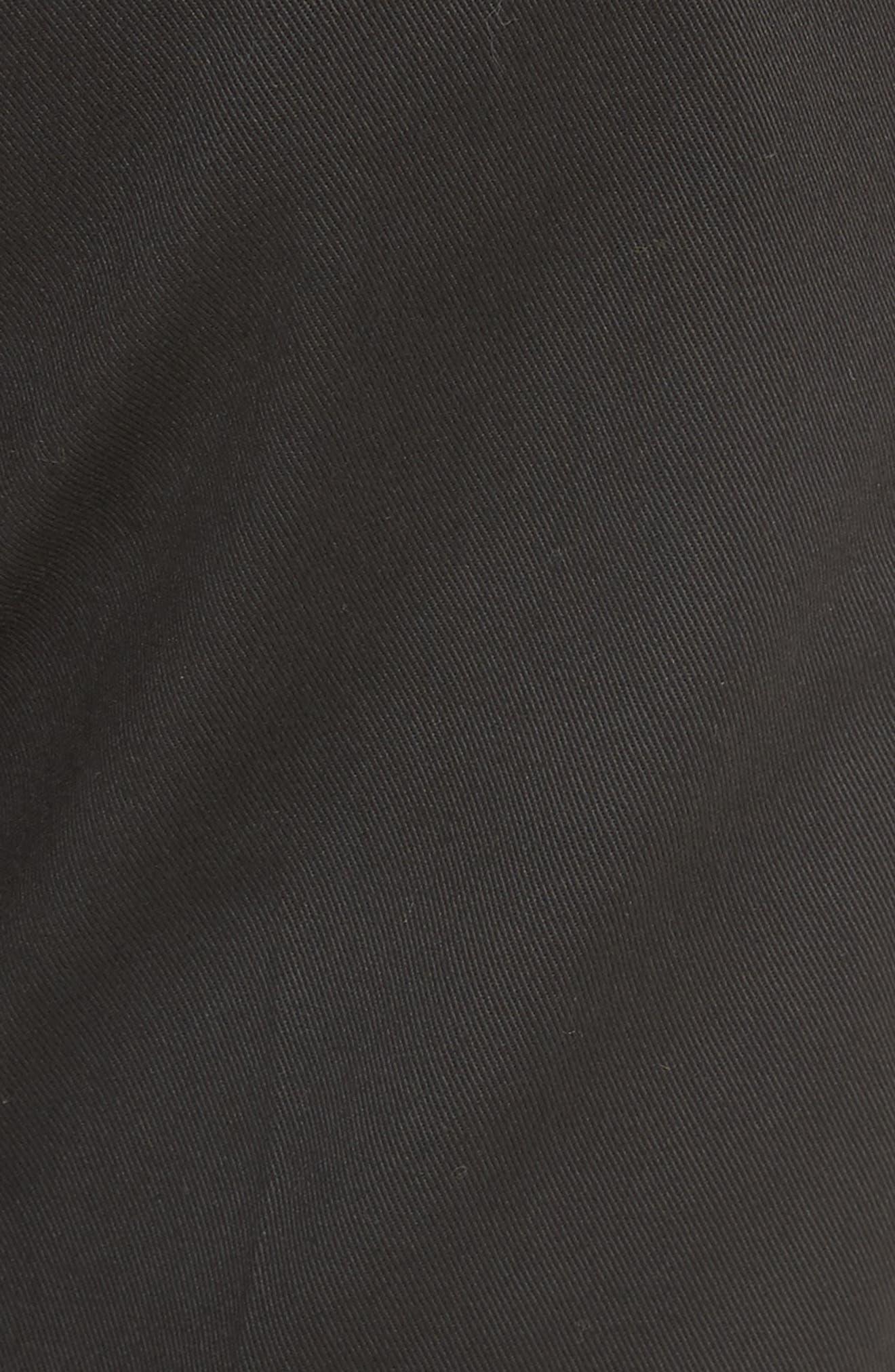Dan Skinny Fit Cropped Trousers,                             Alternate thumbnail 5, color,                             Black