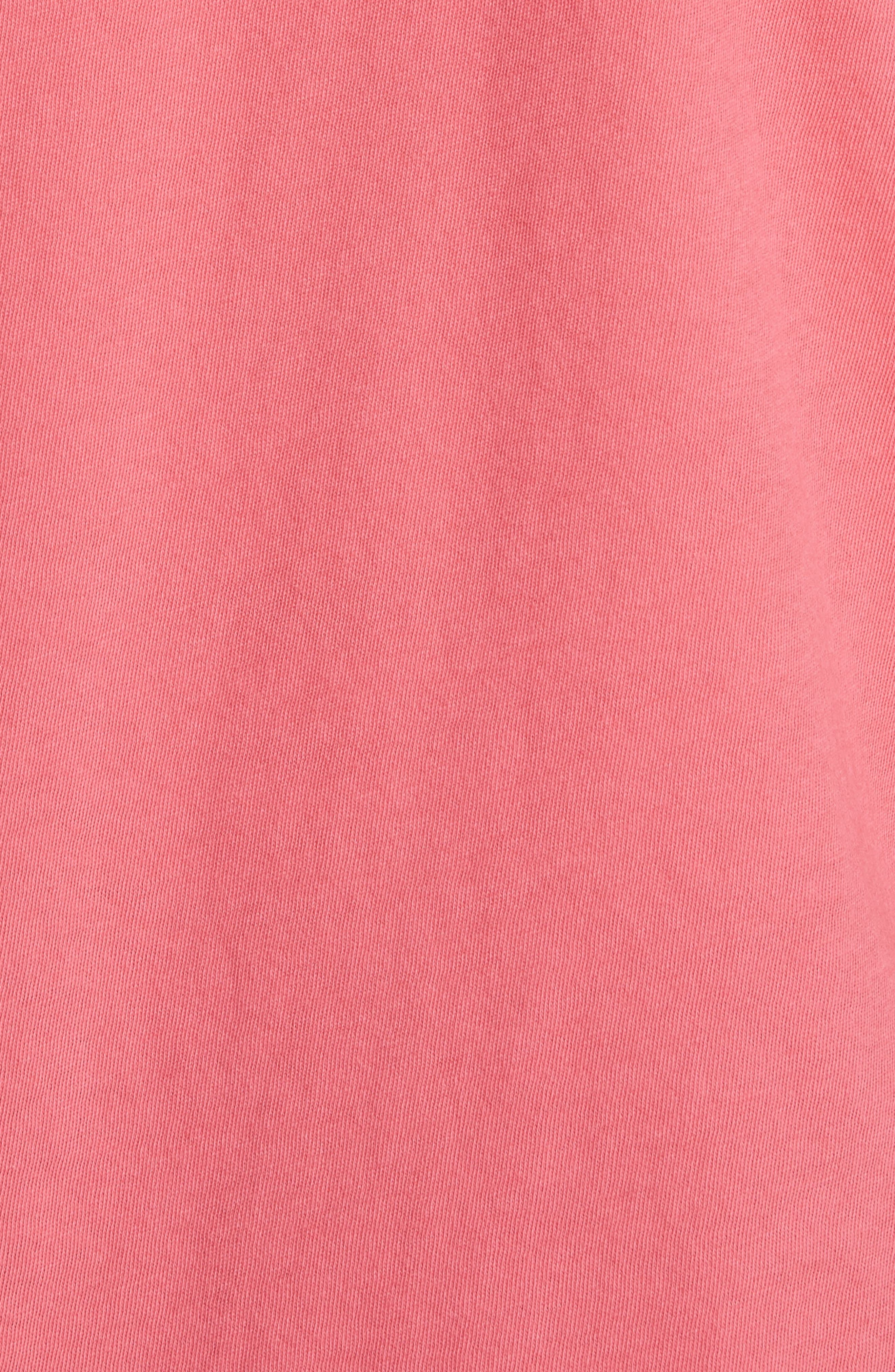 ruffle sleeve tee,                             Alternate thumbnail 5, color,                             Peach Sherbet