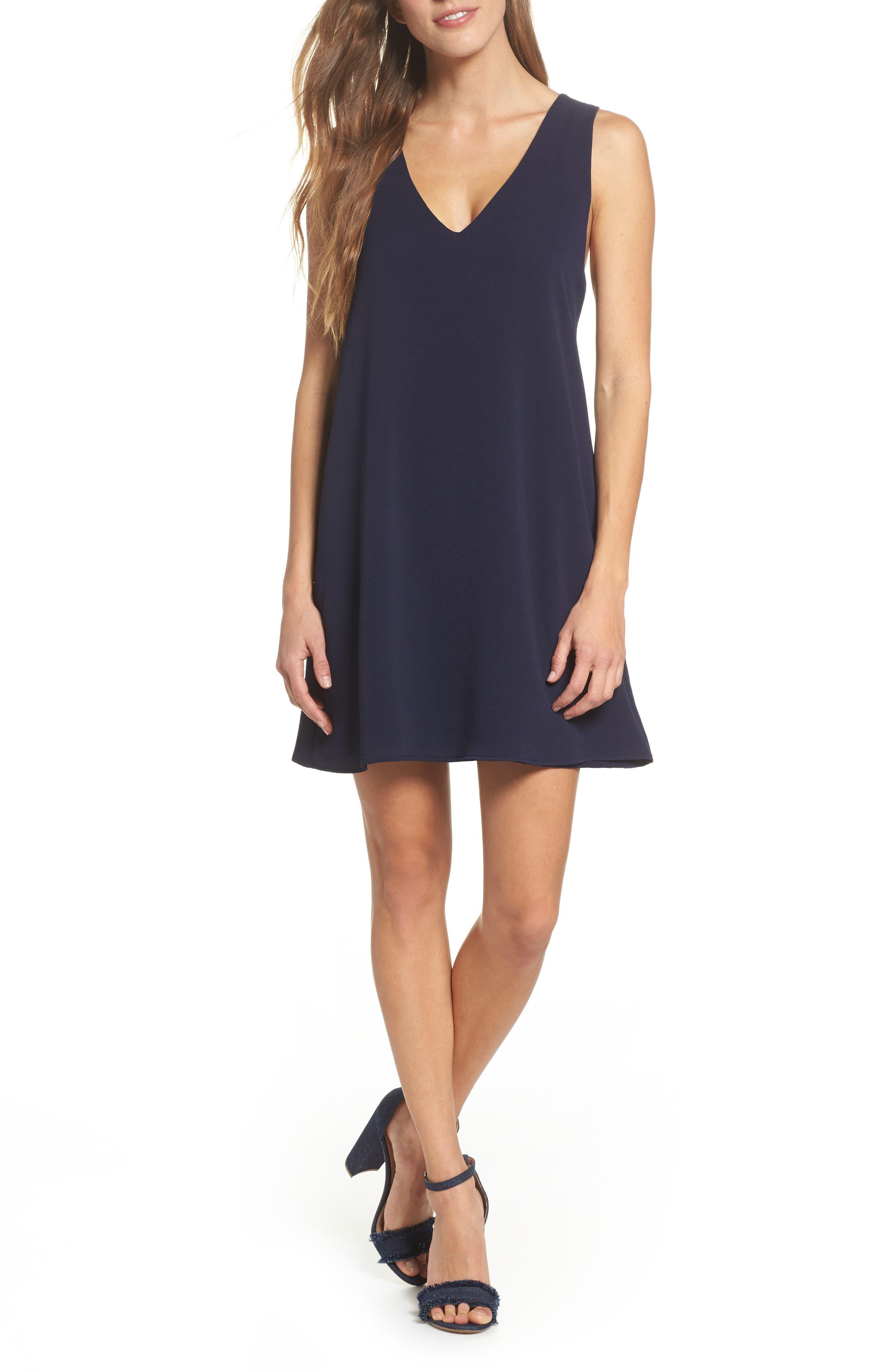 Shift Dress,                         Main,                         color, Navy