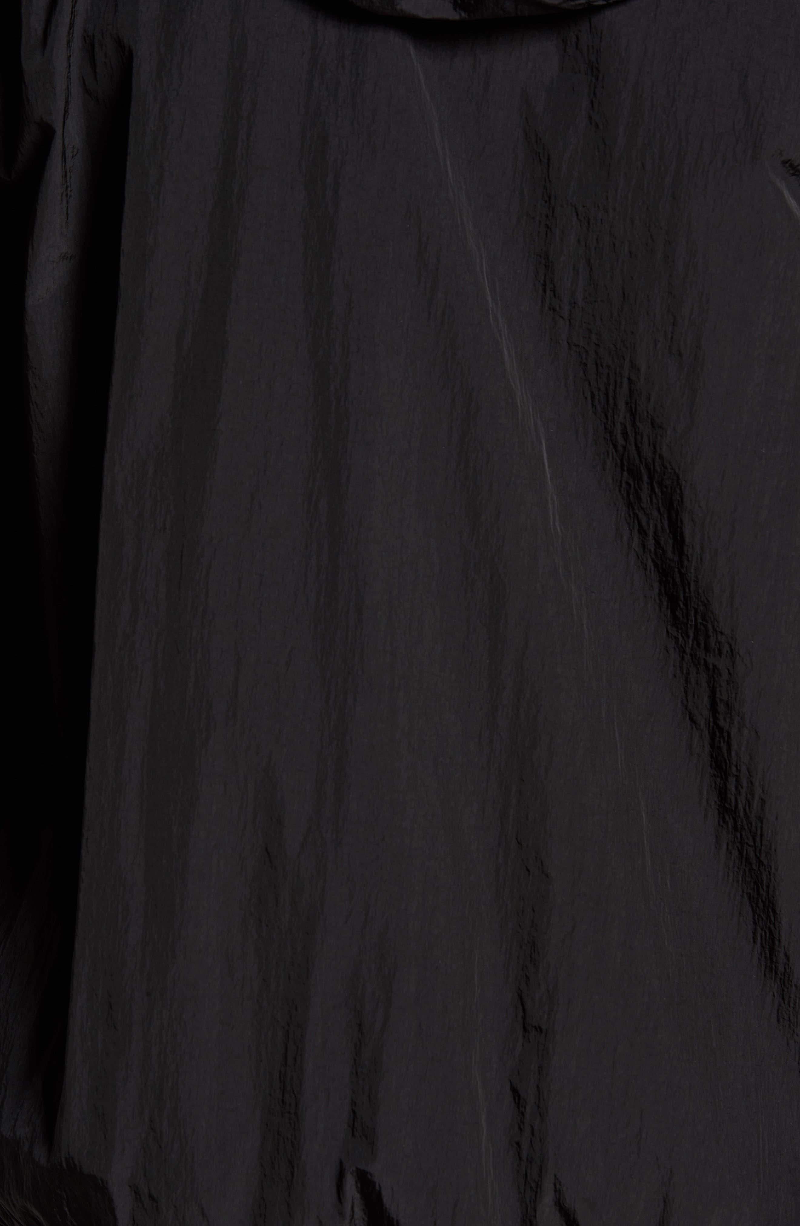Hooded Shell Jacket,                             Alternate thumbnail 5, color,                             Black/ Deep Forest