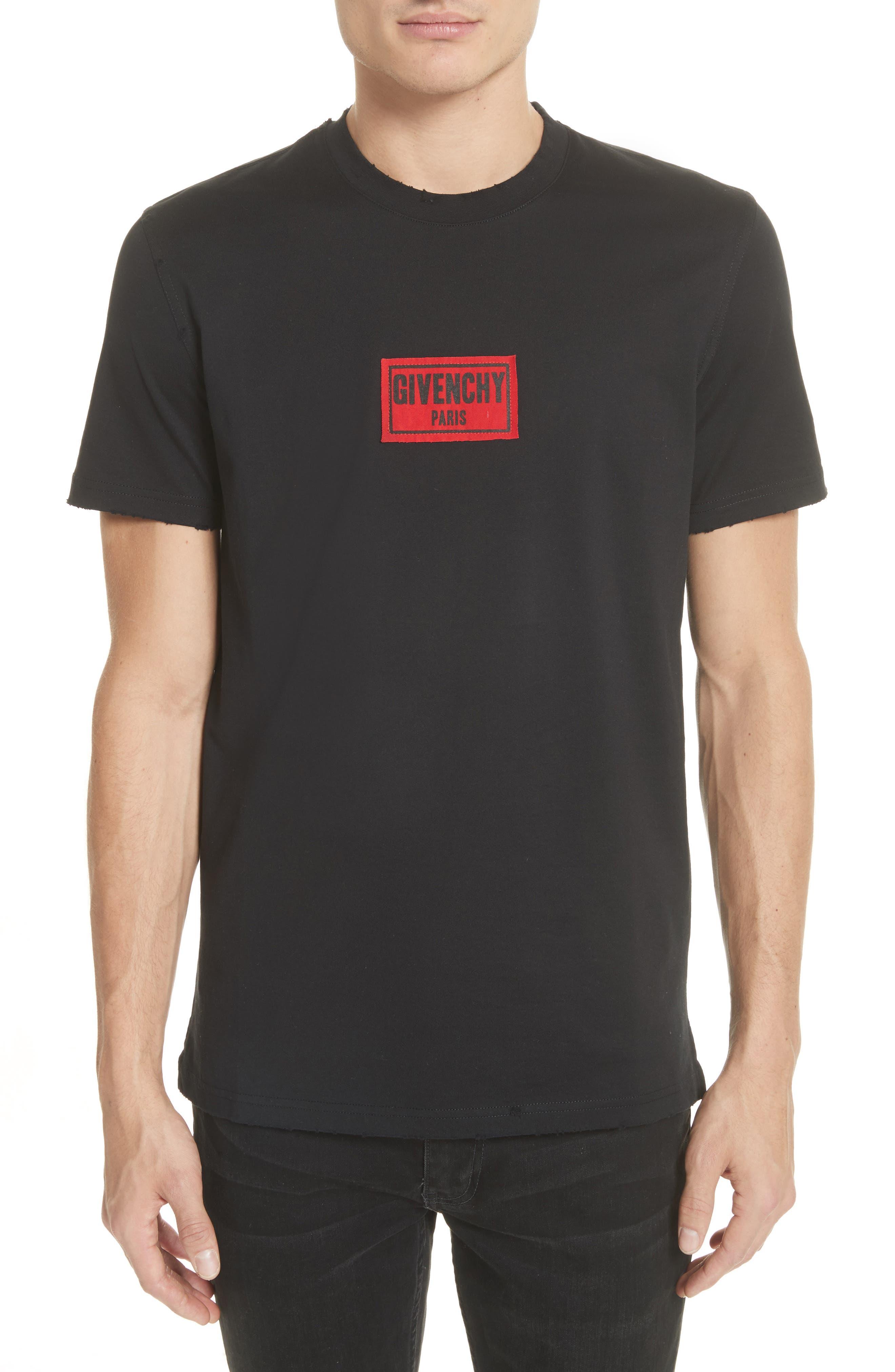 Boxing Logo T-Shirt,                             Main thumbnail 1, color,                             Black