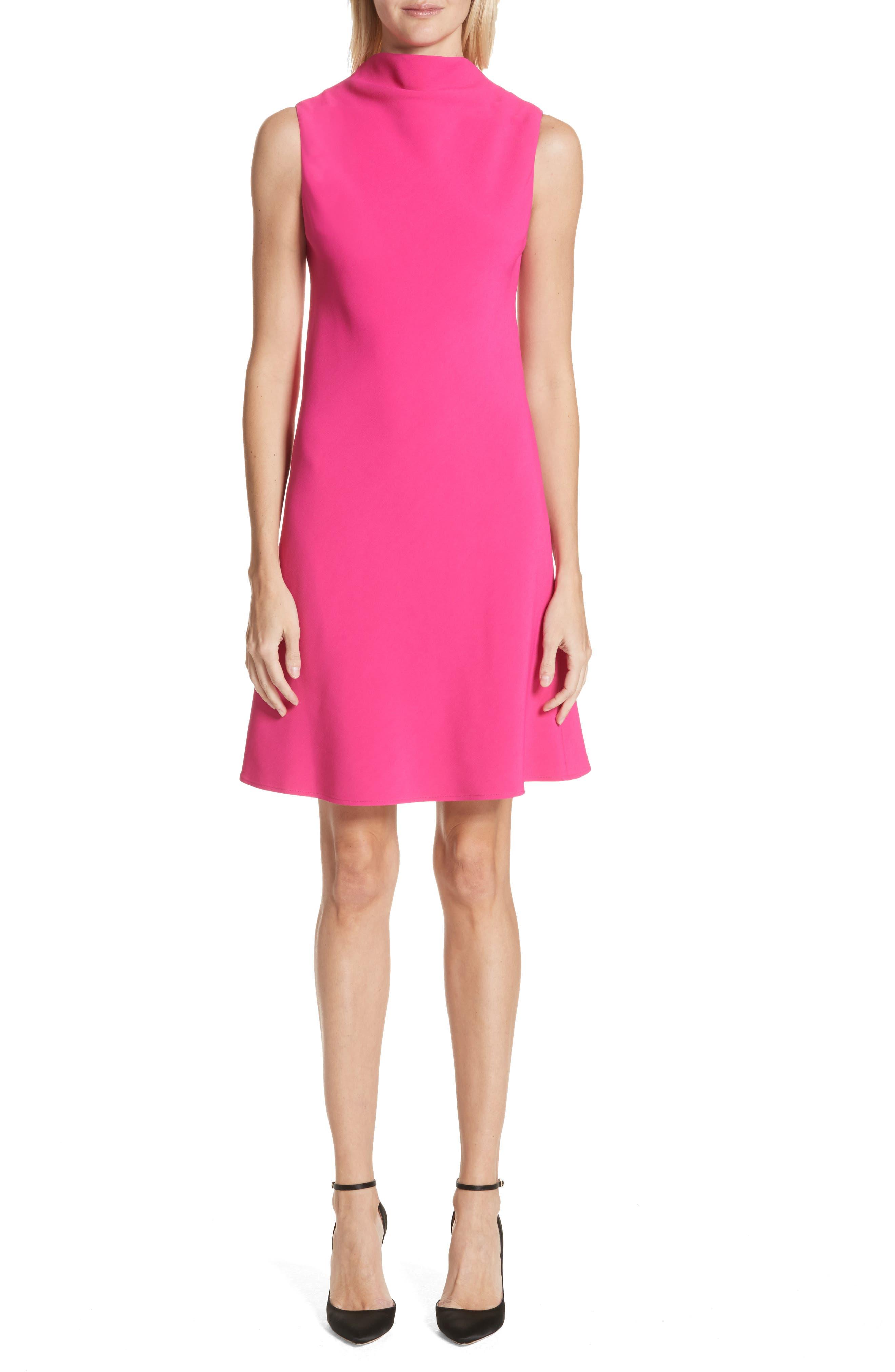 Drape Front Dress,                         Main,                         color, Fuchsia